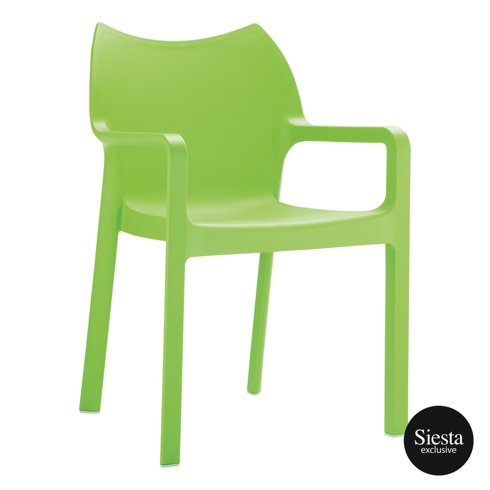 outdoor plastic seating diva chair tropical green front side 1
