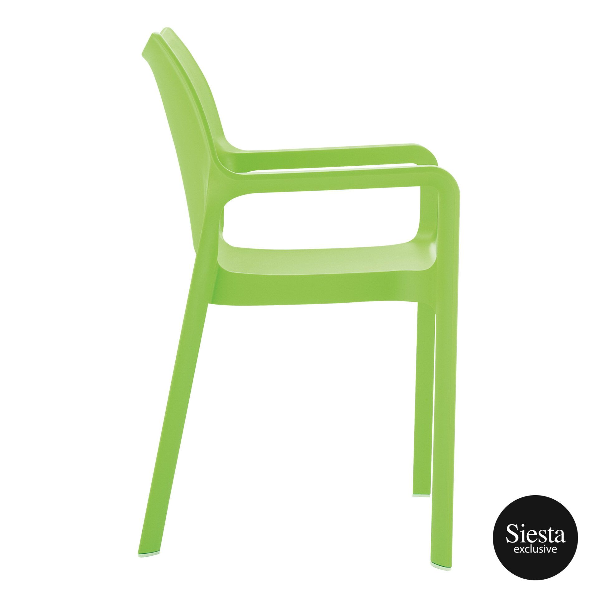 outdoor plastic seating diva chair tropical green side 1