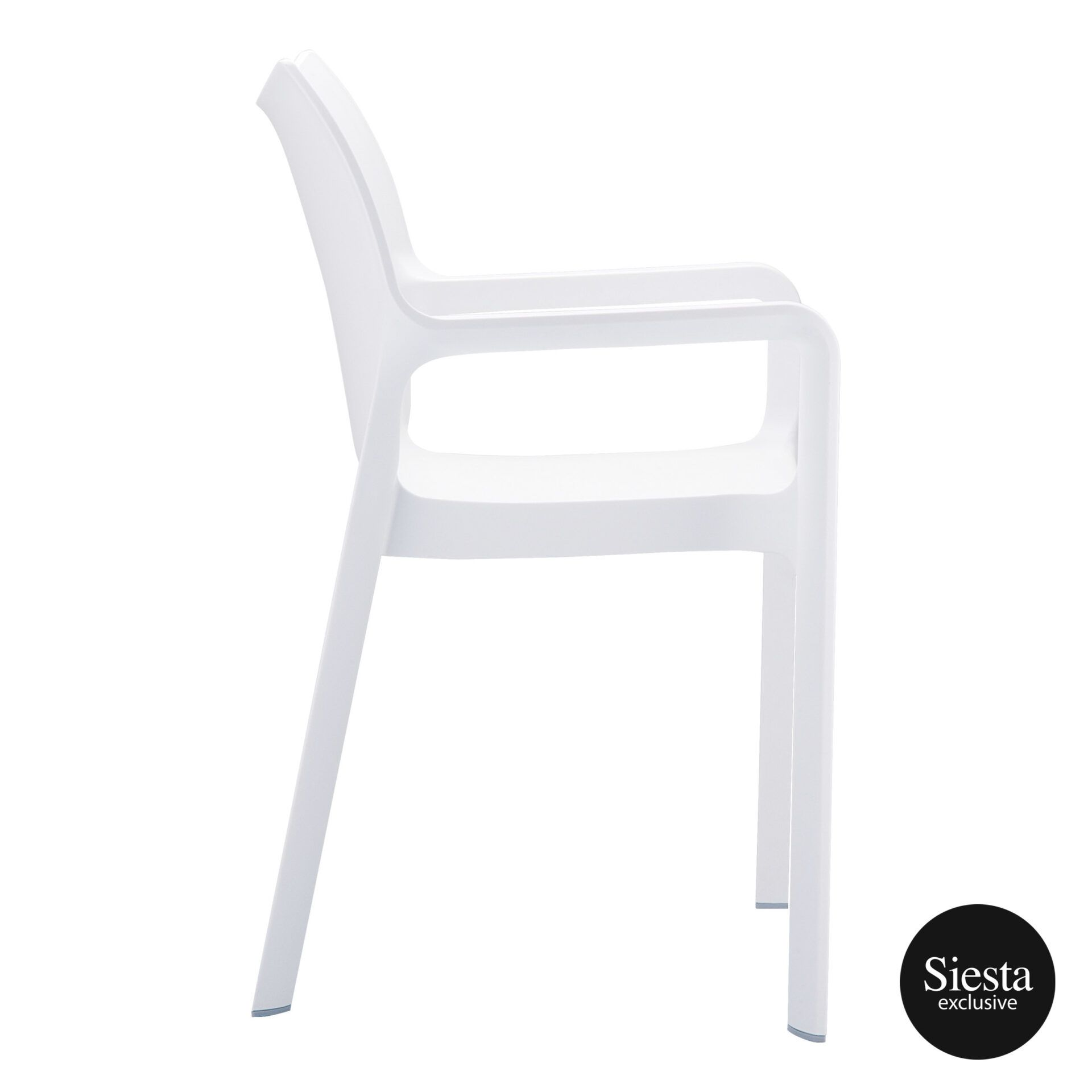 outdoor plastic seating diva chair white side 1