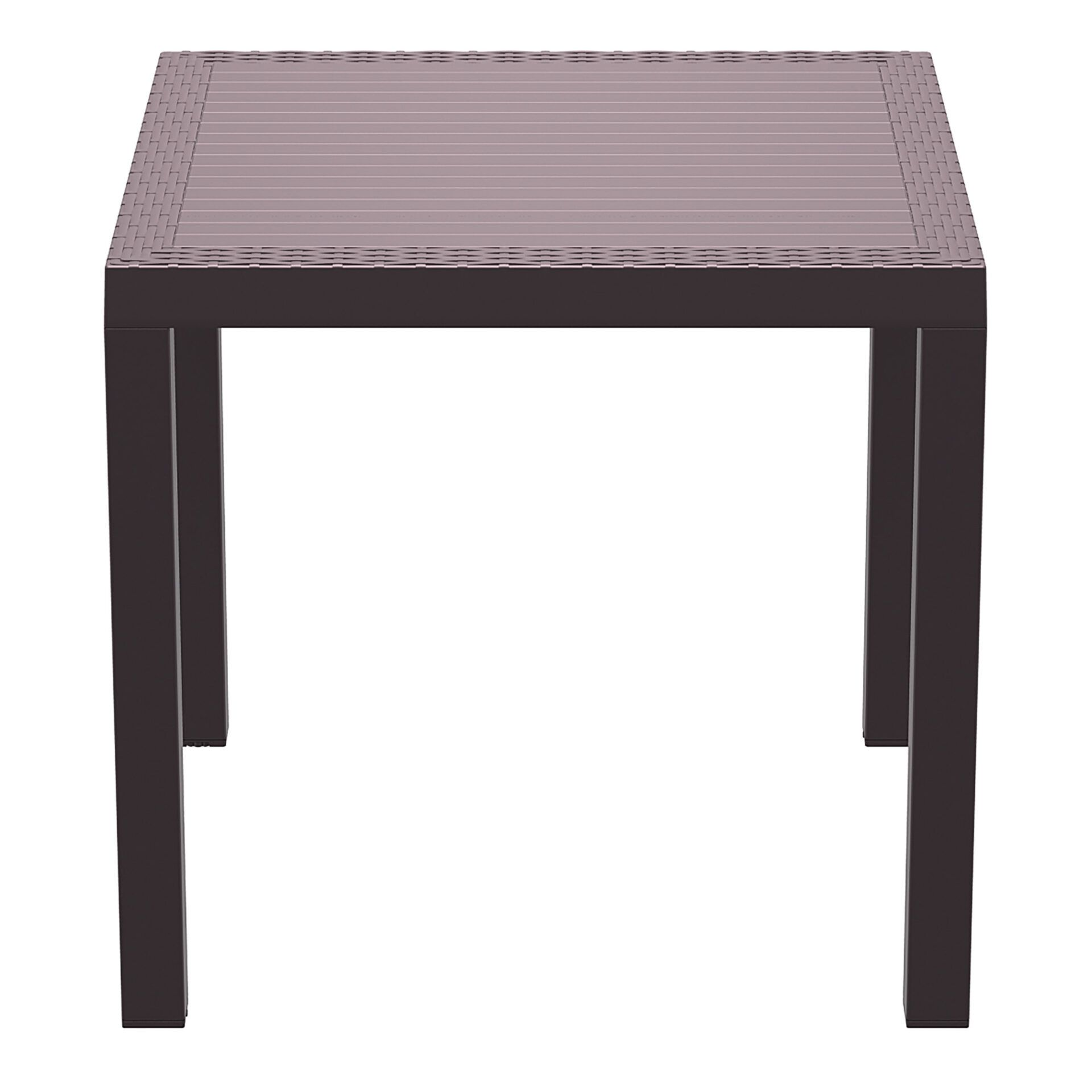 outdoor resin rattan cafe plastic top bali table 80 brown side