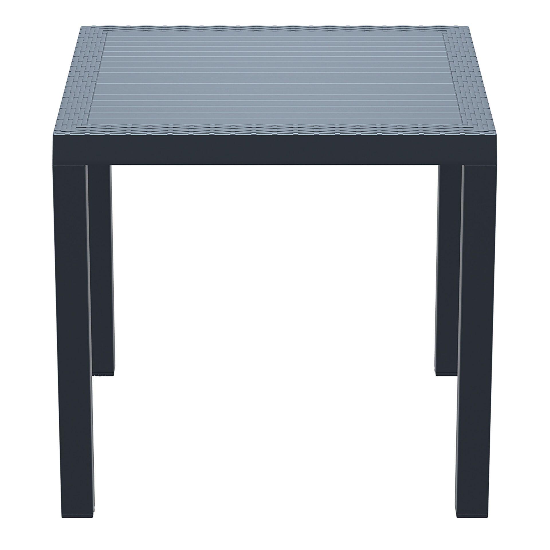 outdoor resin rattan cafe plastic top bali table 80 darkgrey side