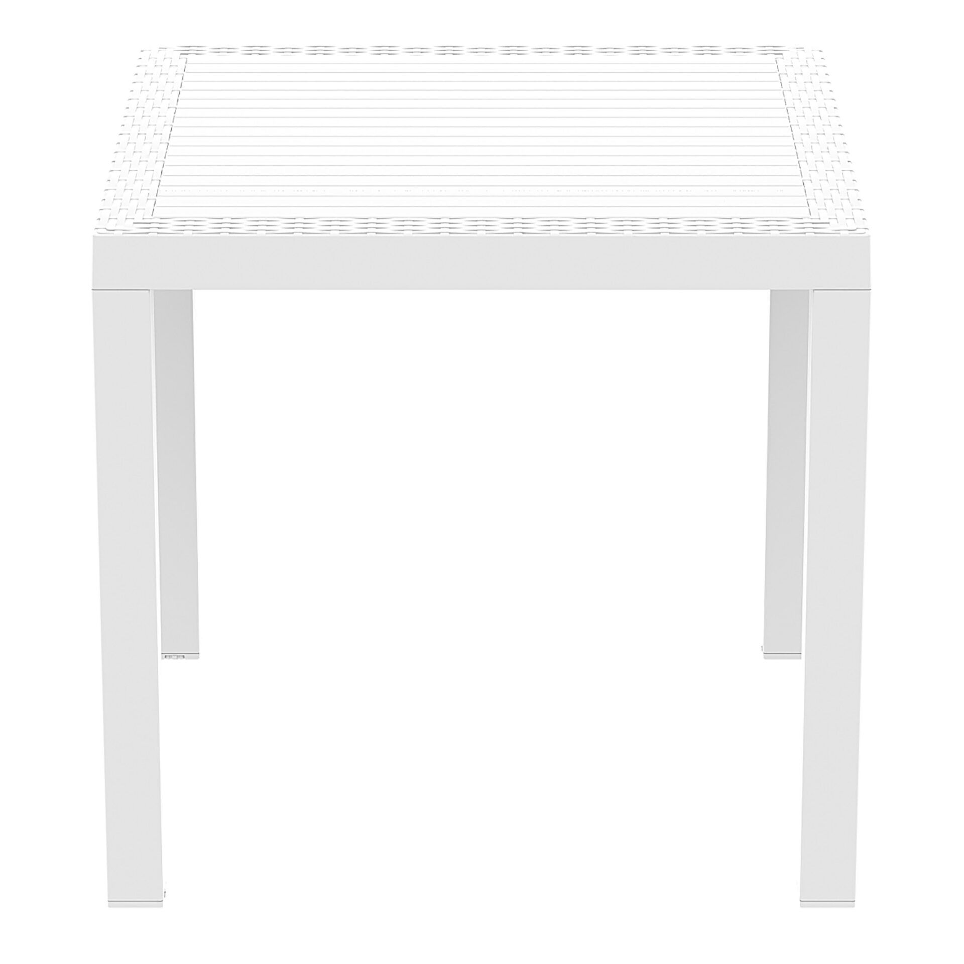 outdoor resin rattan cafe plastic top bali table 80 white side