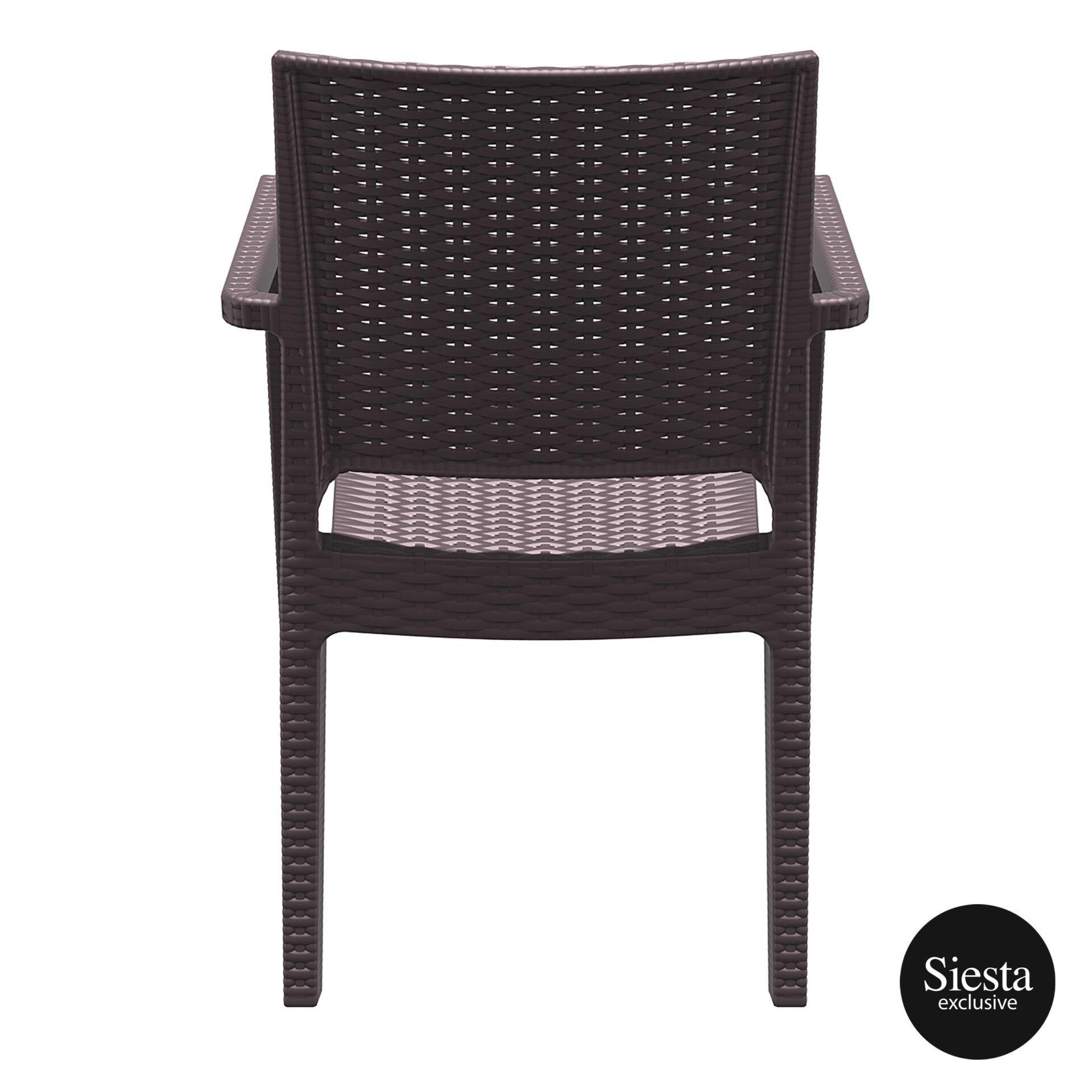 outdoor seating resin rattan ibiza armchair brown back 1