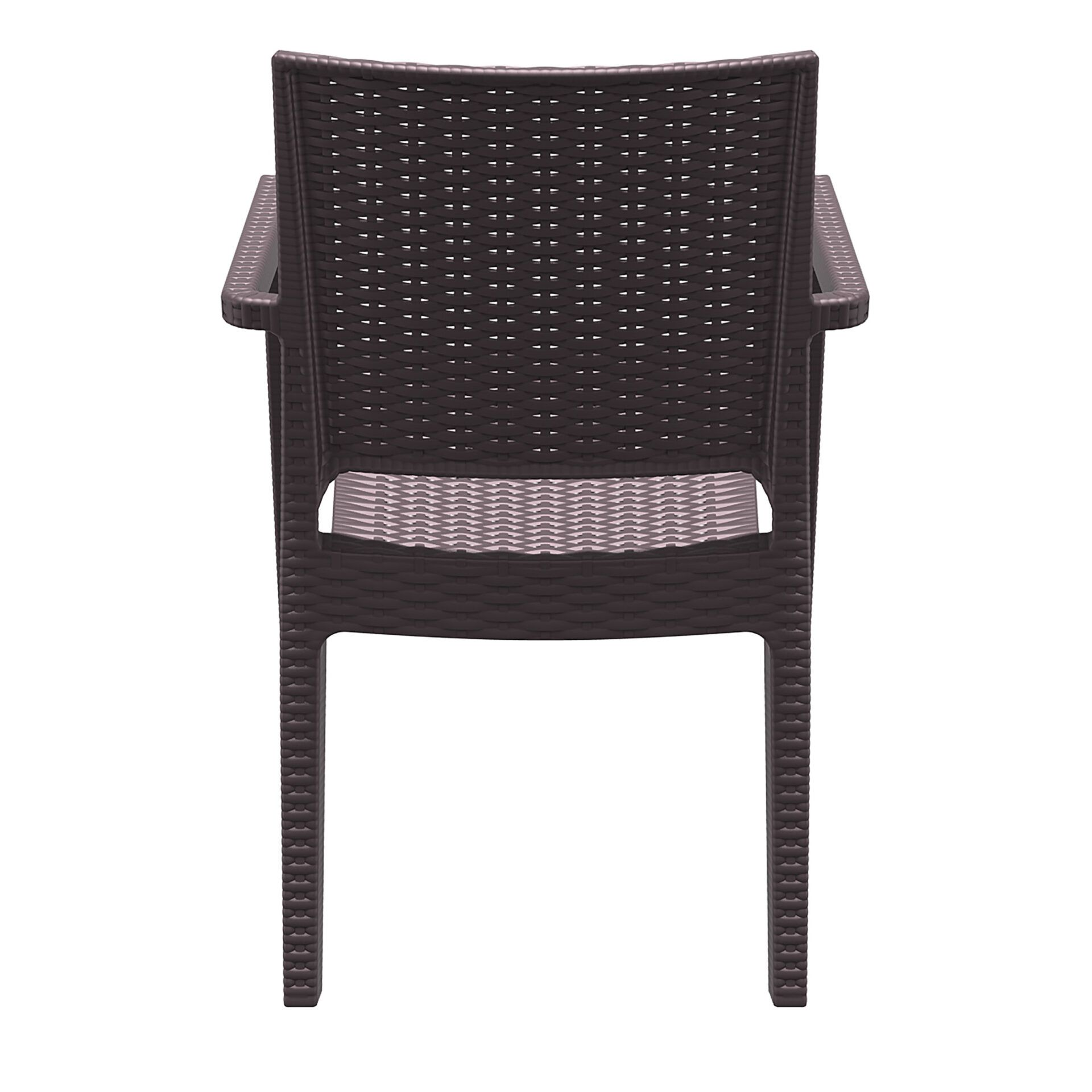 outdoor seating resin rattan ibiza armchair brown back