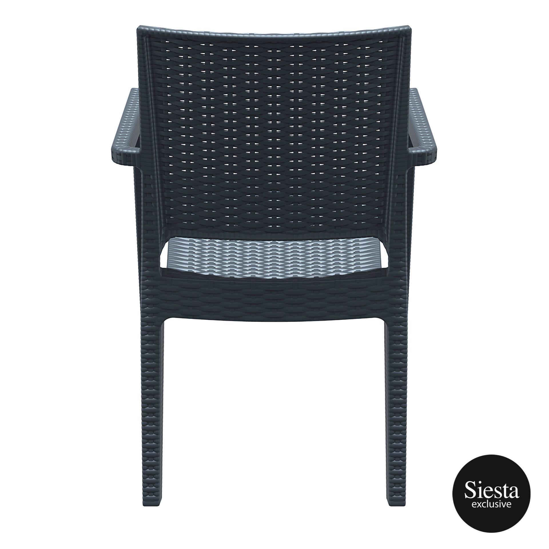 outdoor seating resin rattan ibiza armchair darkgrey back 1
