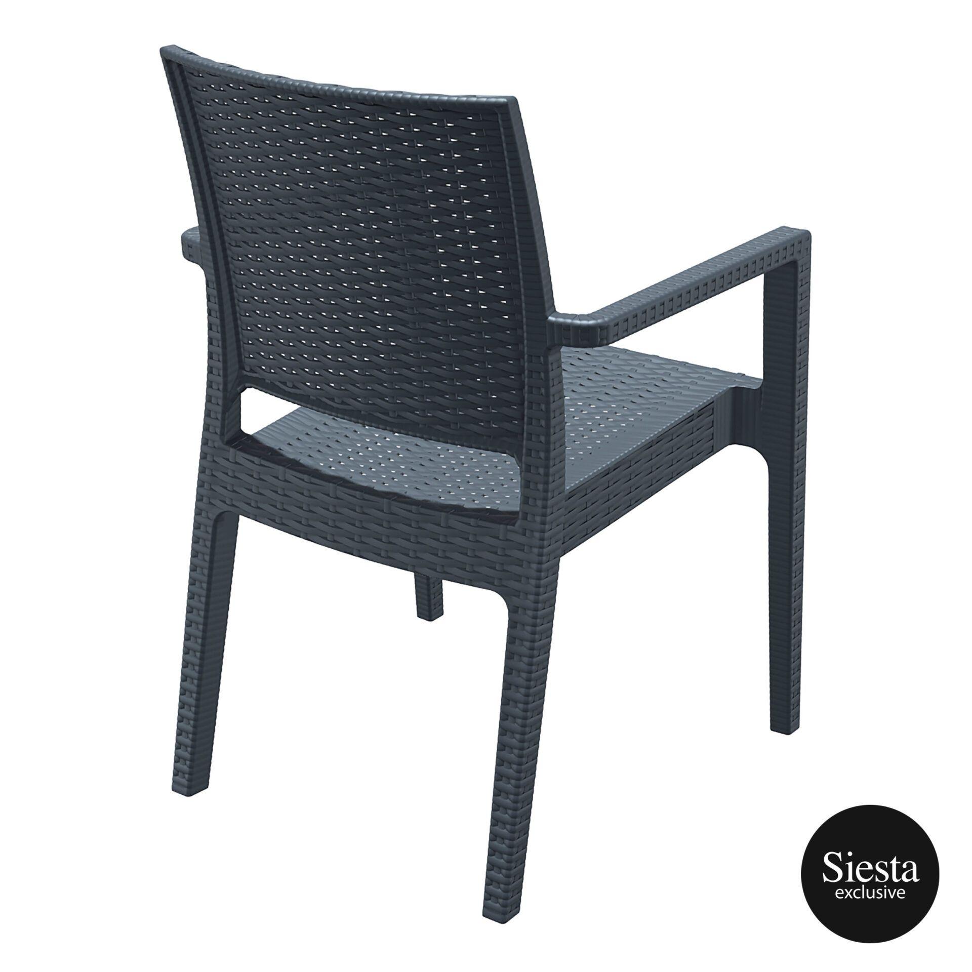 outdoor seating resin rattan ibiza armchair darkgrey back side 1