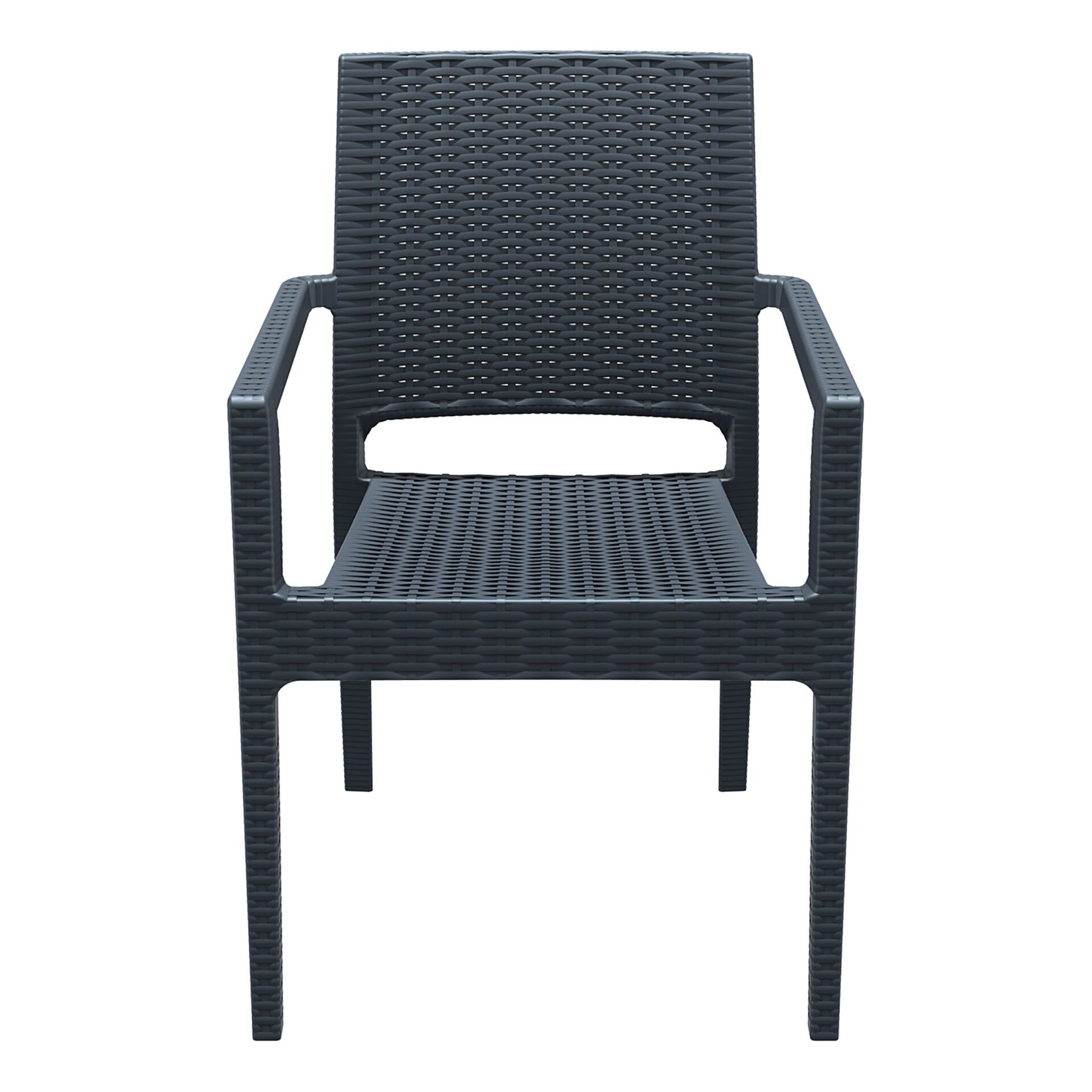 outdoor seating resin rattan ibiza armchair darkgrey front