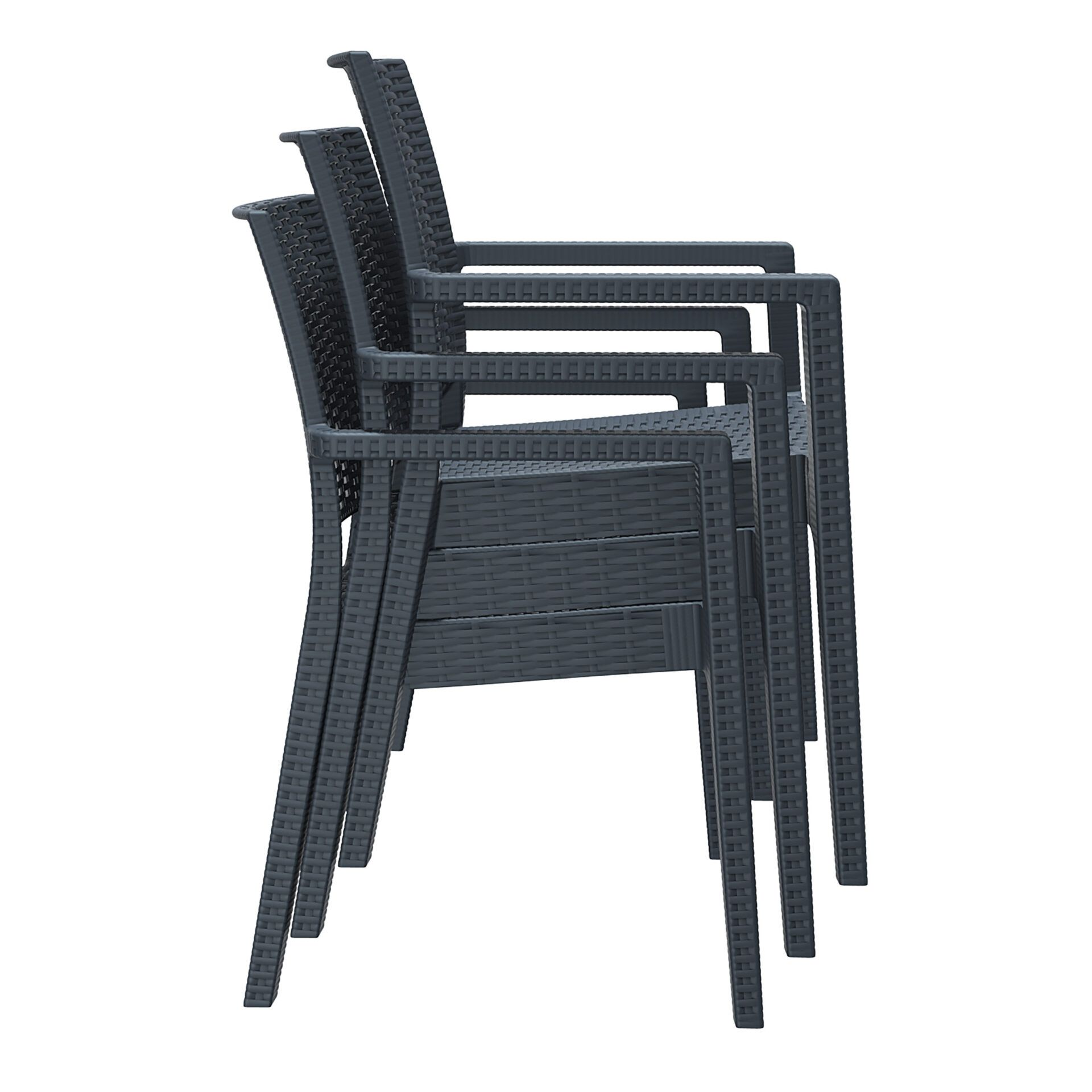 outdoor seating resin rattan ibiza armchair stack