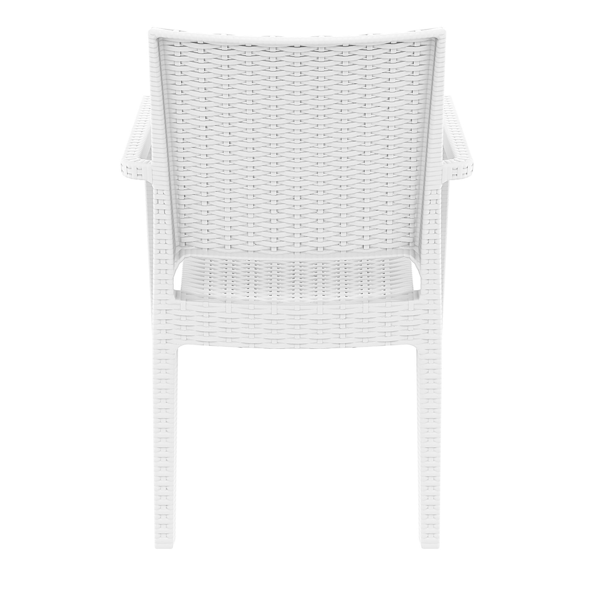 outdoor seating resin rattan ibiza armchair white back