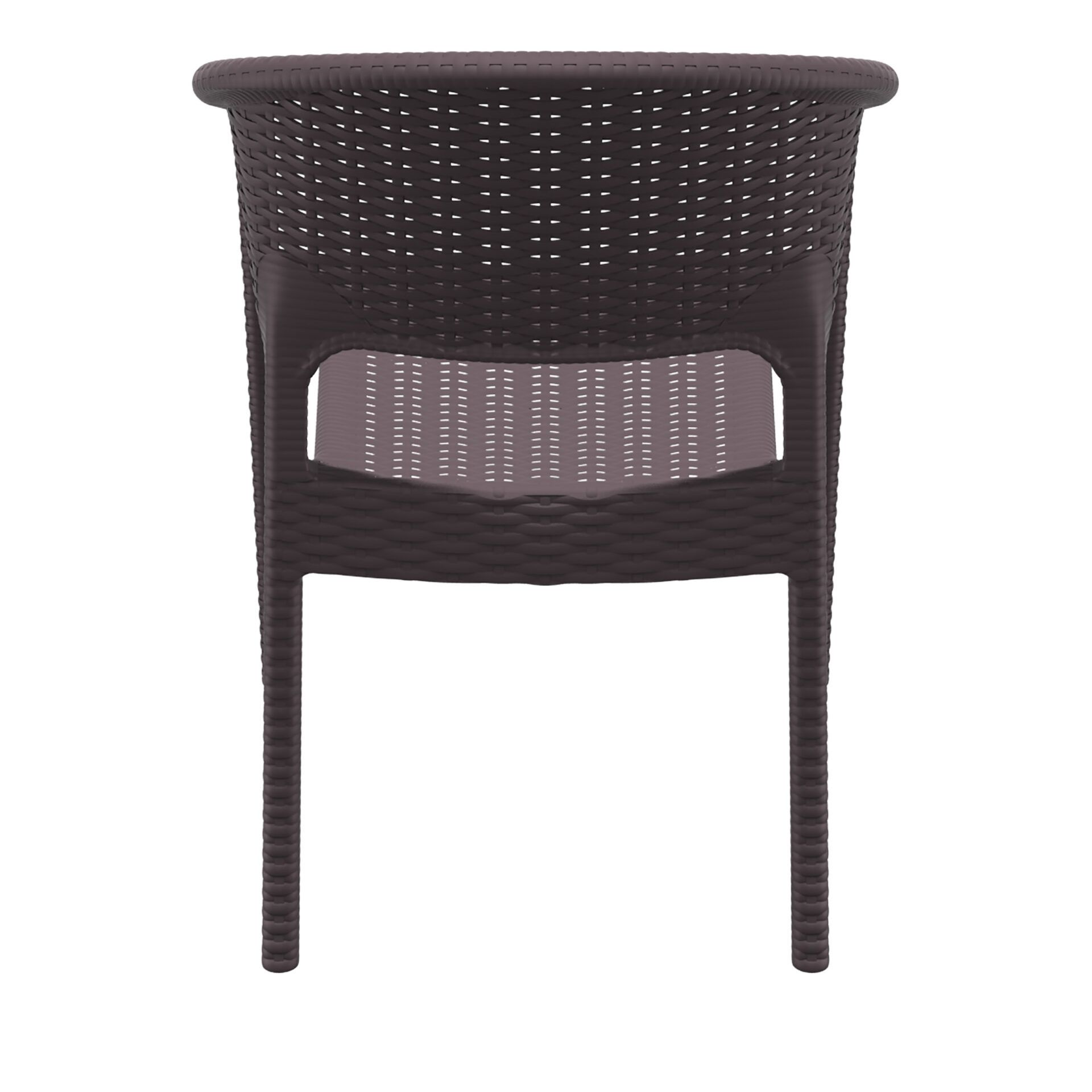 outdoor seating resin rattan panama armchair brown back