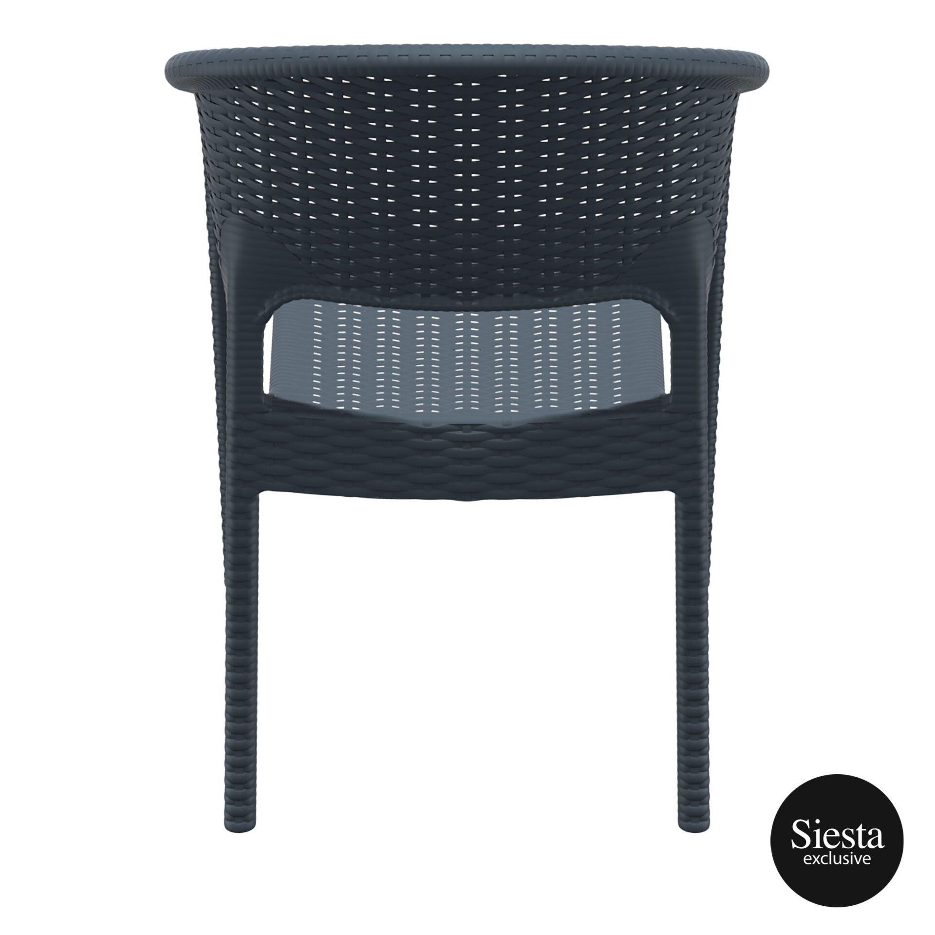 outdoor seating resin rattan panama armchair darkgrey back 1