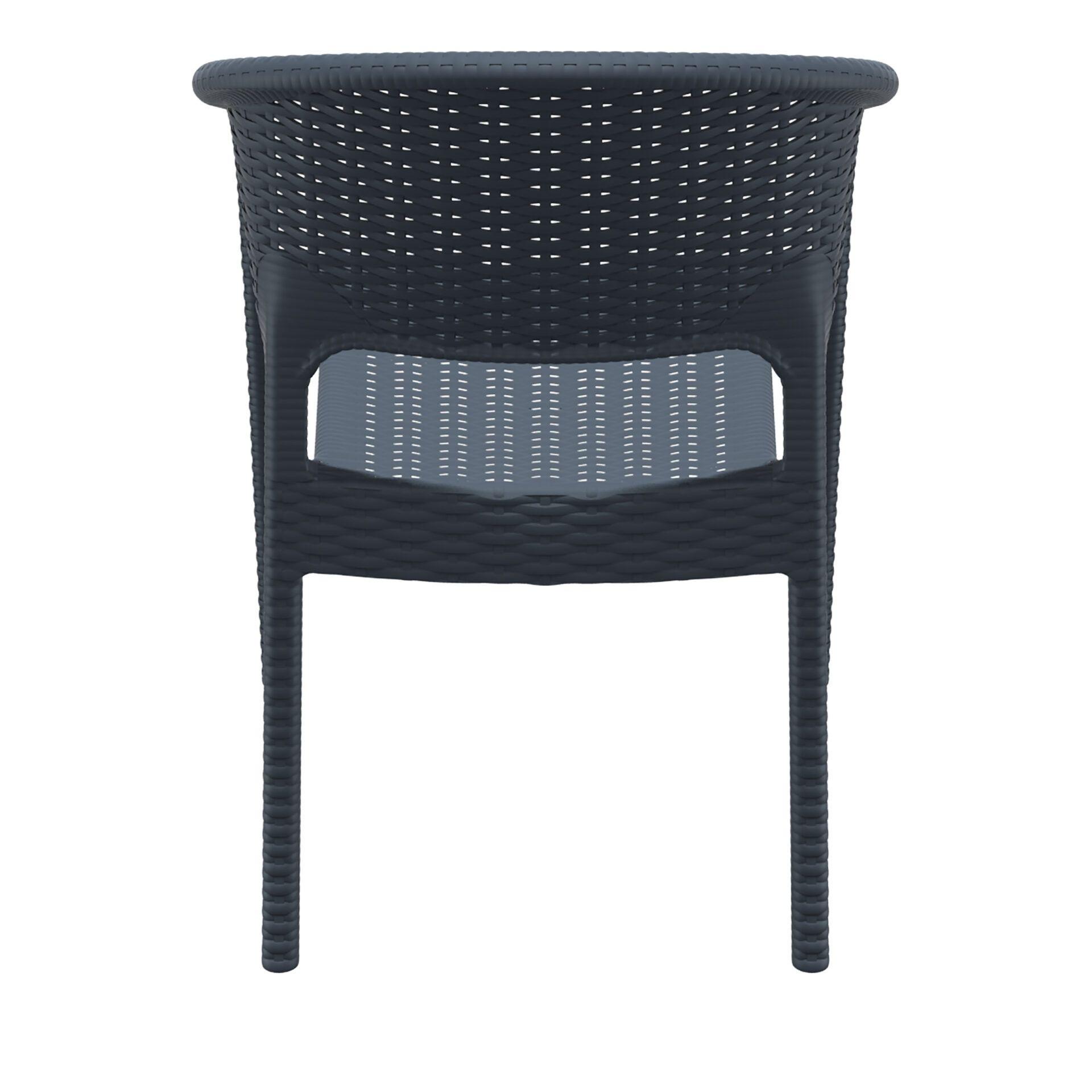 outdoor seating resin rattan panama armchair darkgrey back
