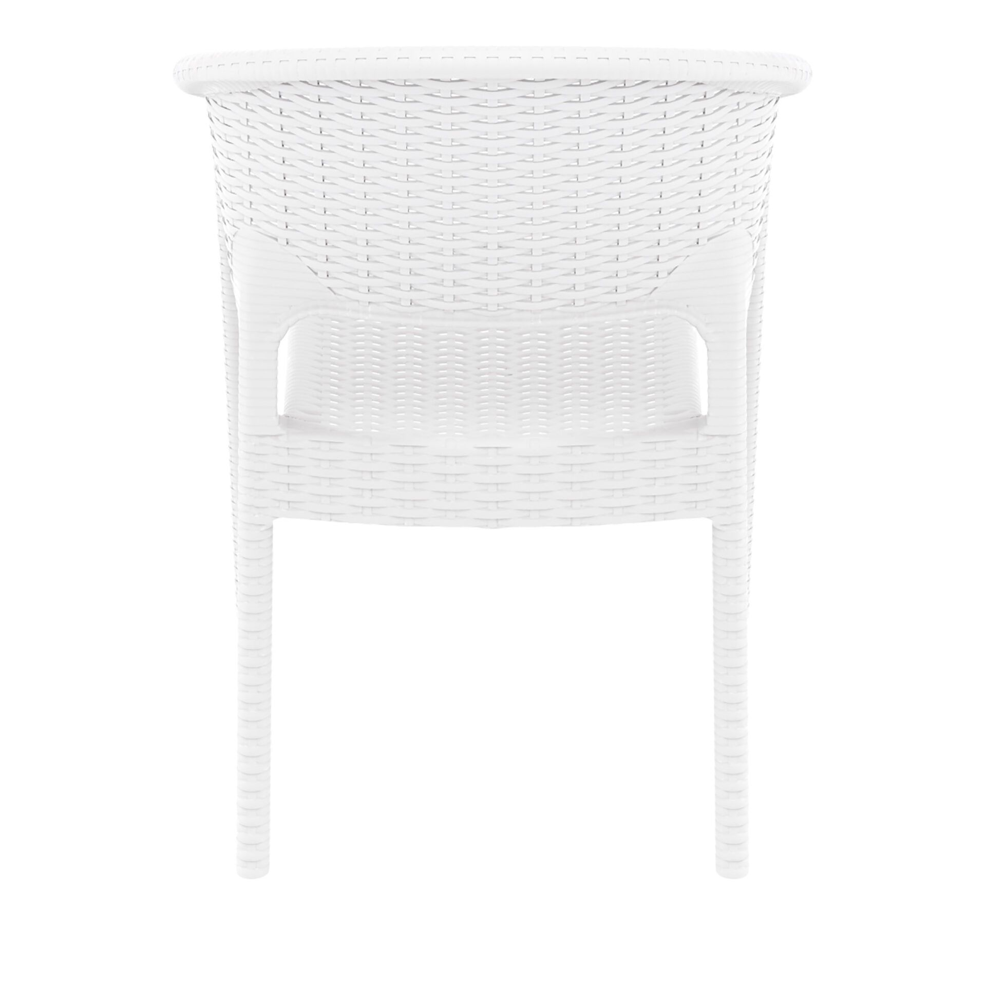 outdoor seating resin rattan panama armchair white back