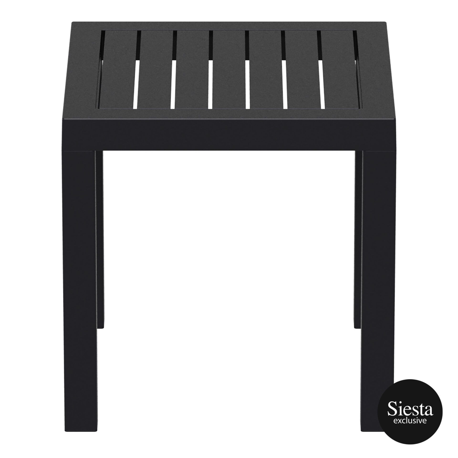 plastic outdoor resort ocean side table black side 1