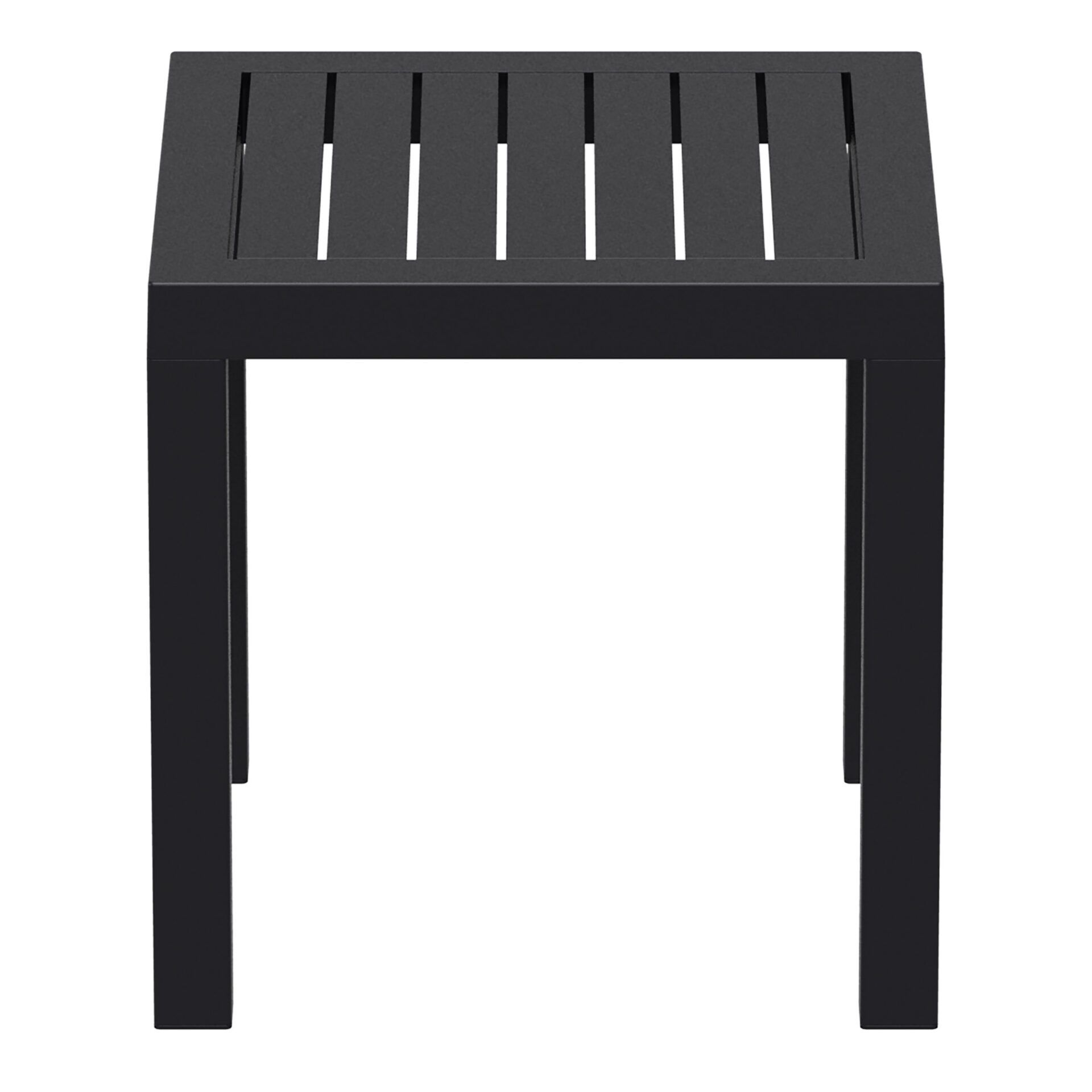 plastic outdoor resort ocean side table black side
