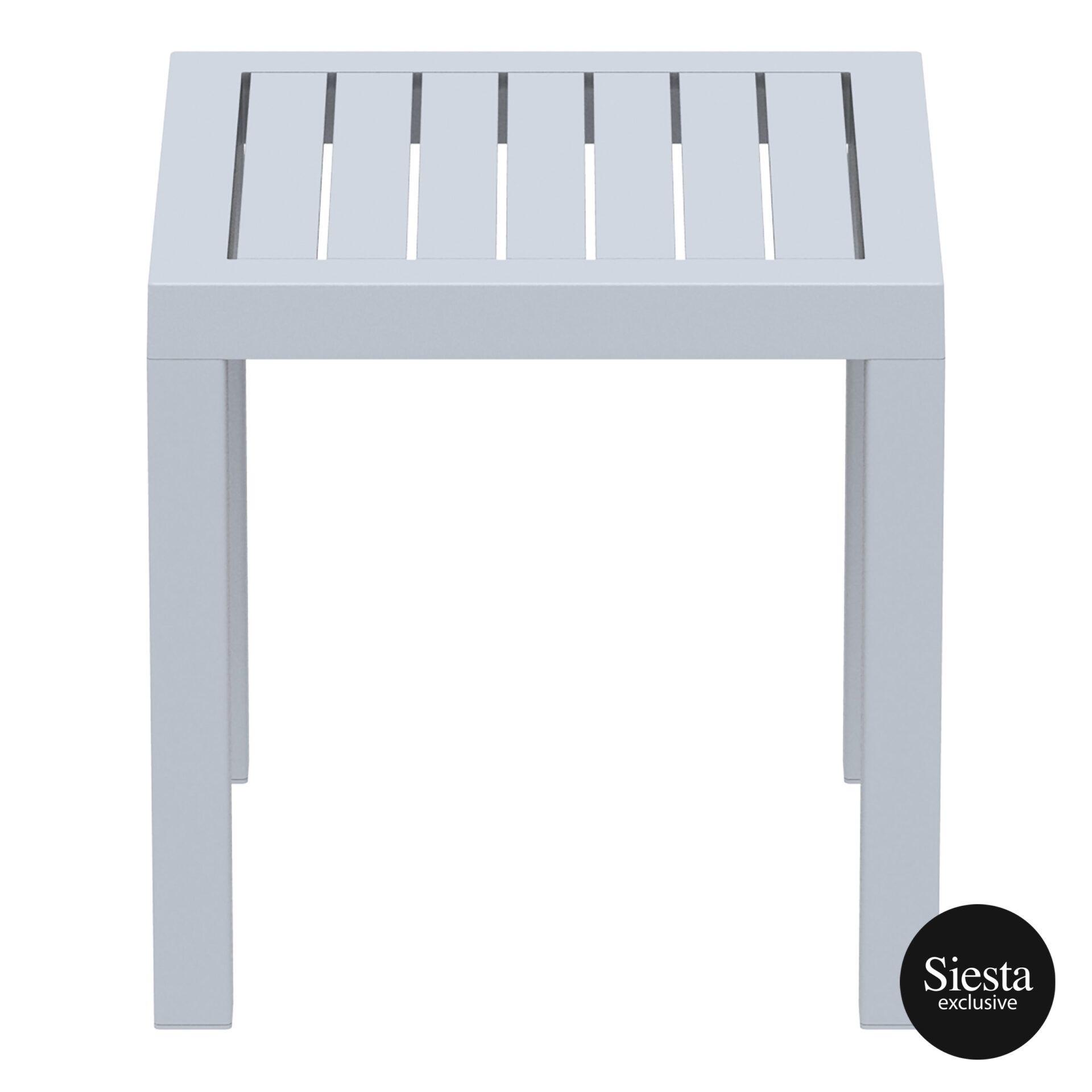 plastic outdoor resort ocean side table silvergrey side 1