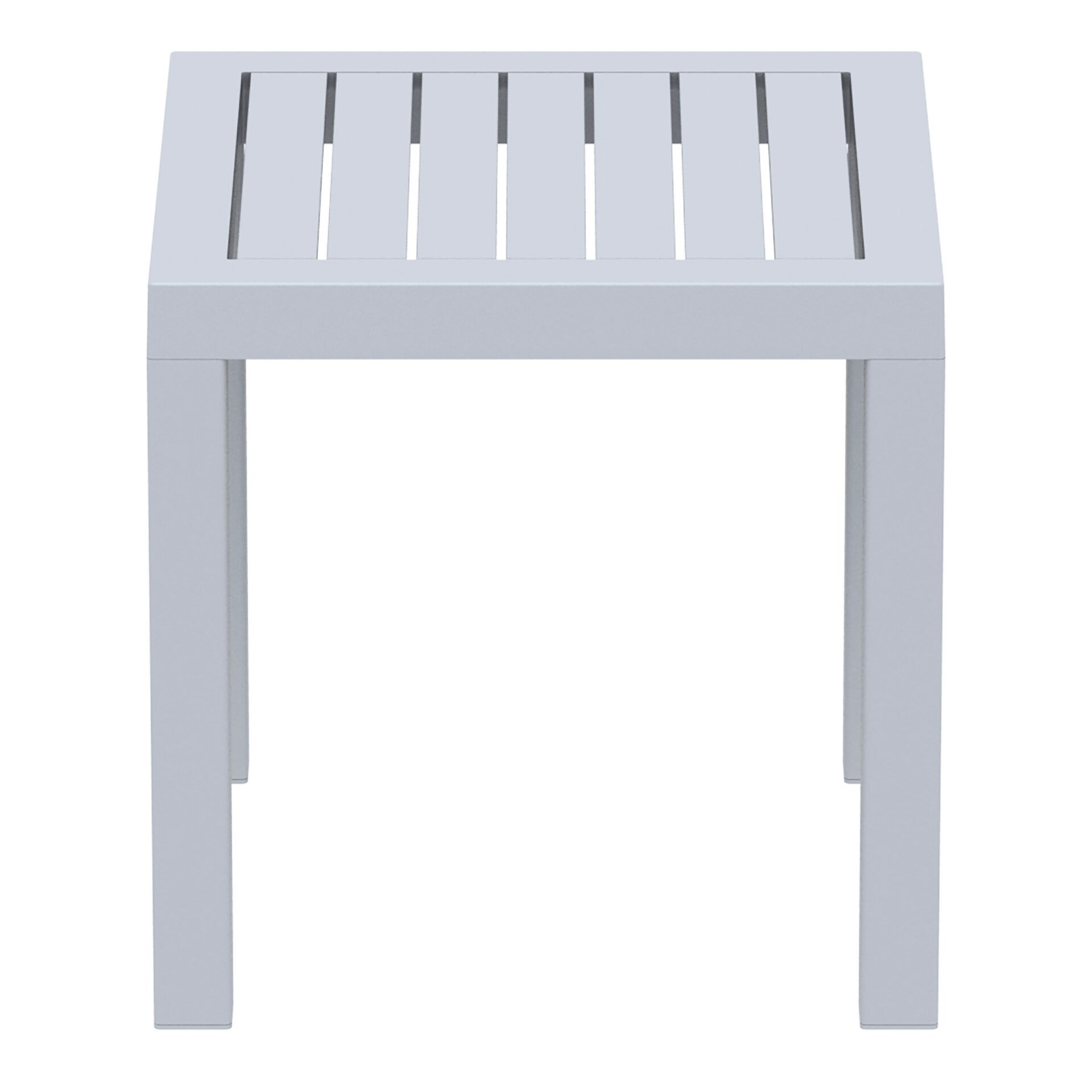 plastic outdoor resort ocean side table silvergrey side