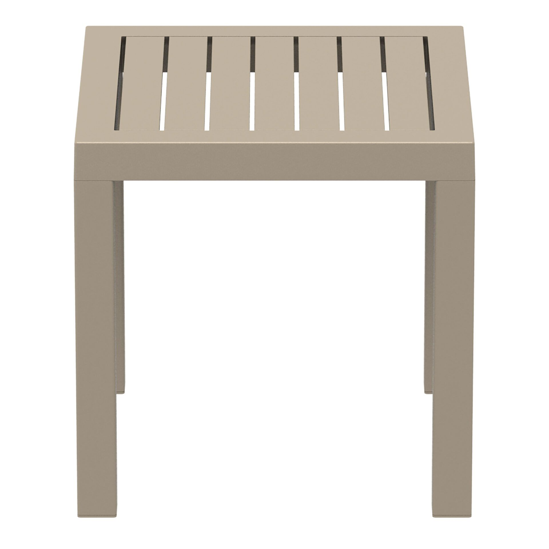 plastic outdoor resort ocean side table taupe side