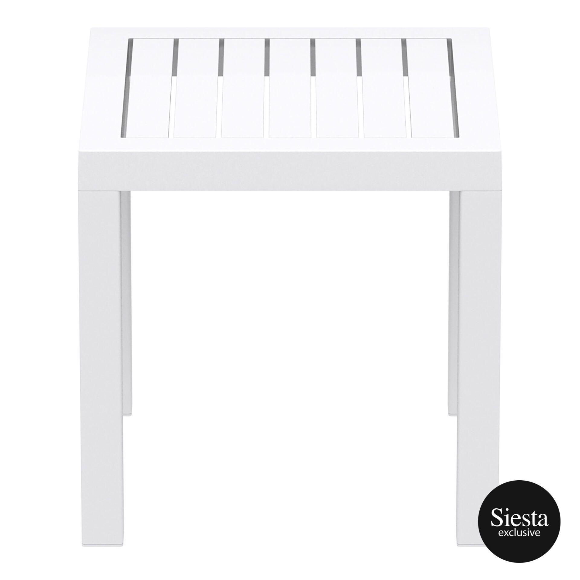 plastic outdoor resort ocean side table white side 1
