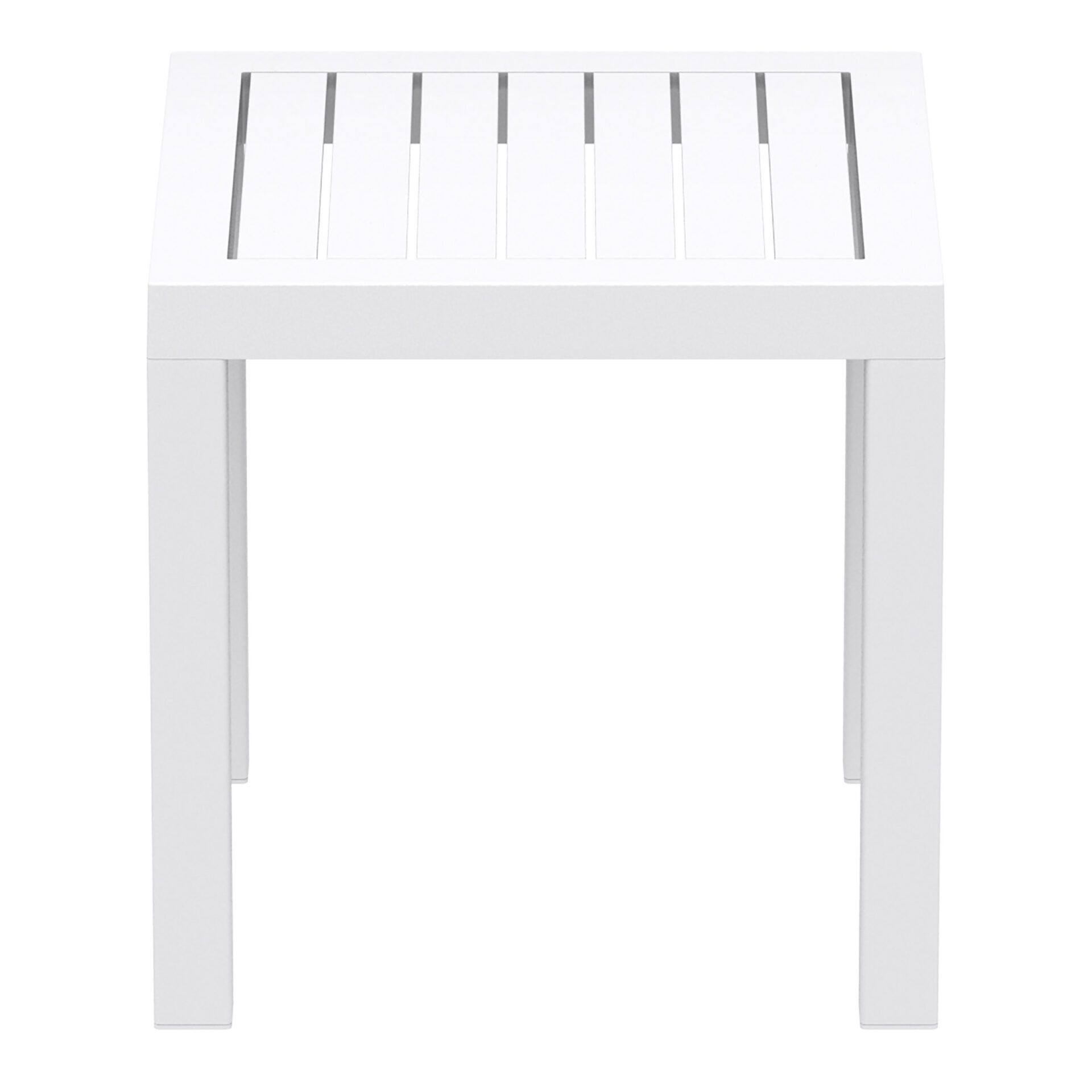 plastic outdoor resort ocean side table white side