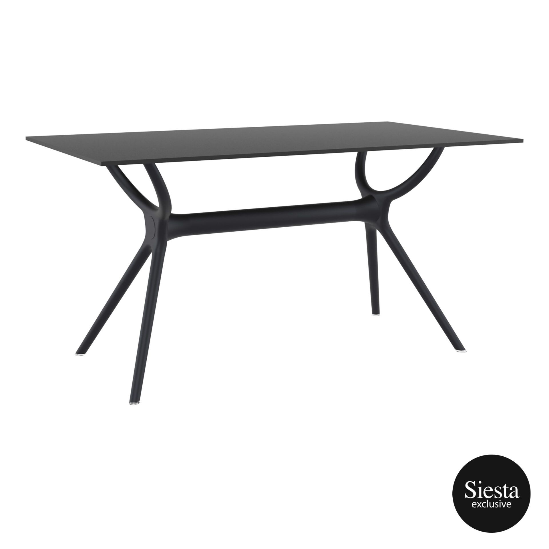 polypropylene dining air table 140 black front side 1