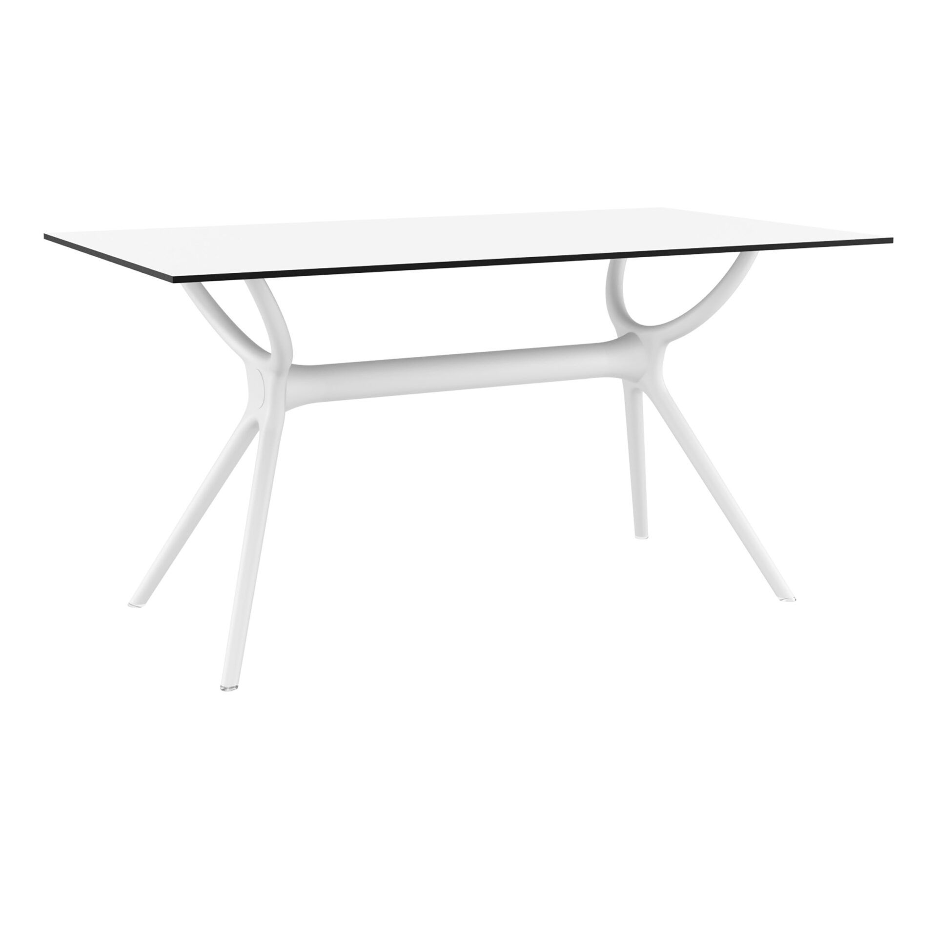 polypropylene dining air table 140 white front side