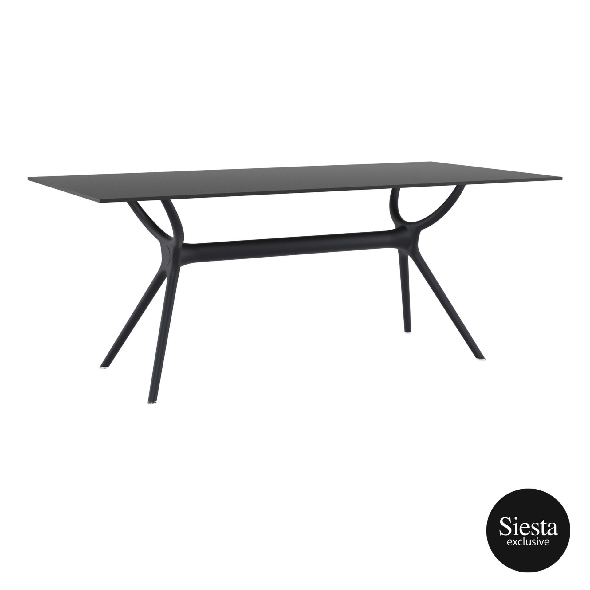 polypropylene dining air table 180 black front side 1