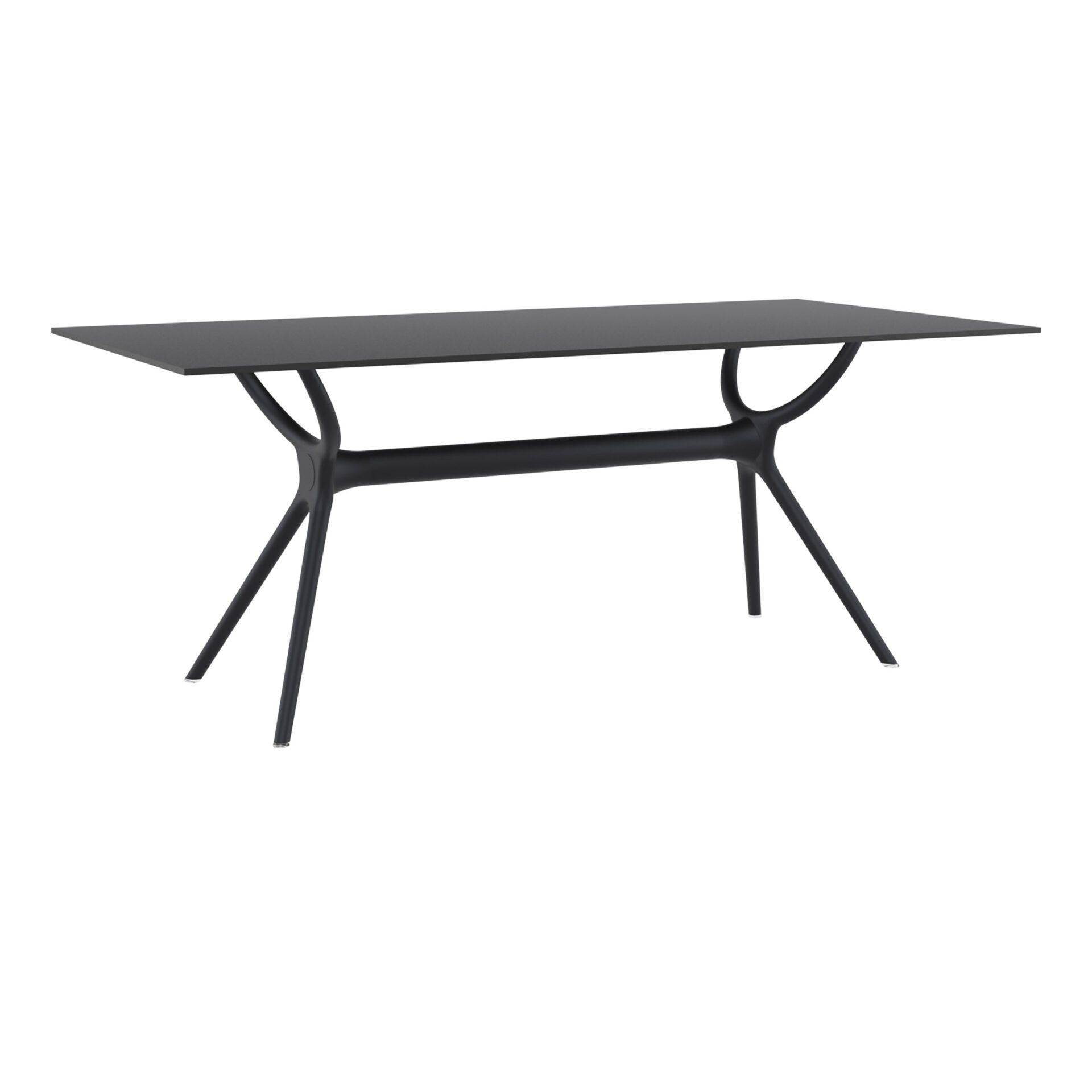polypropylene dining air table 180 black front side