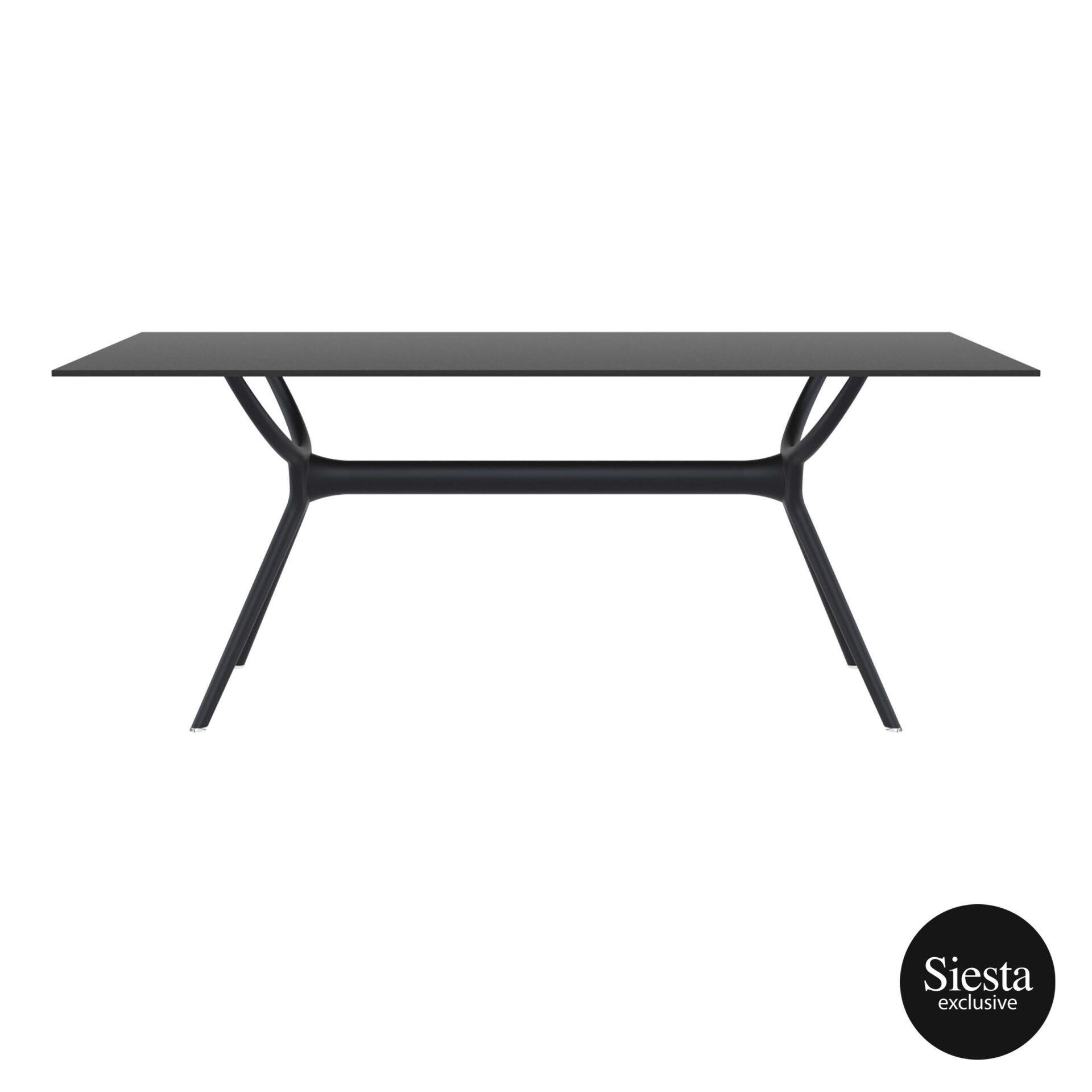 polypropylene dining air table 180 black long edge 1