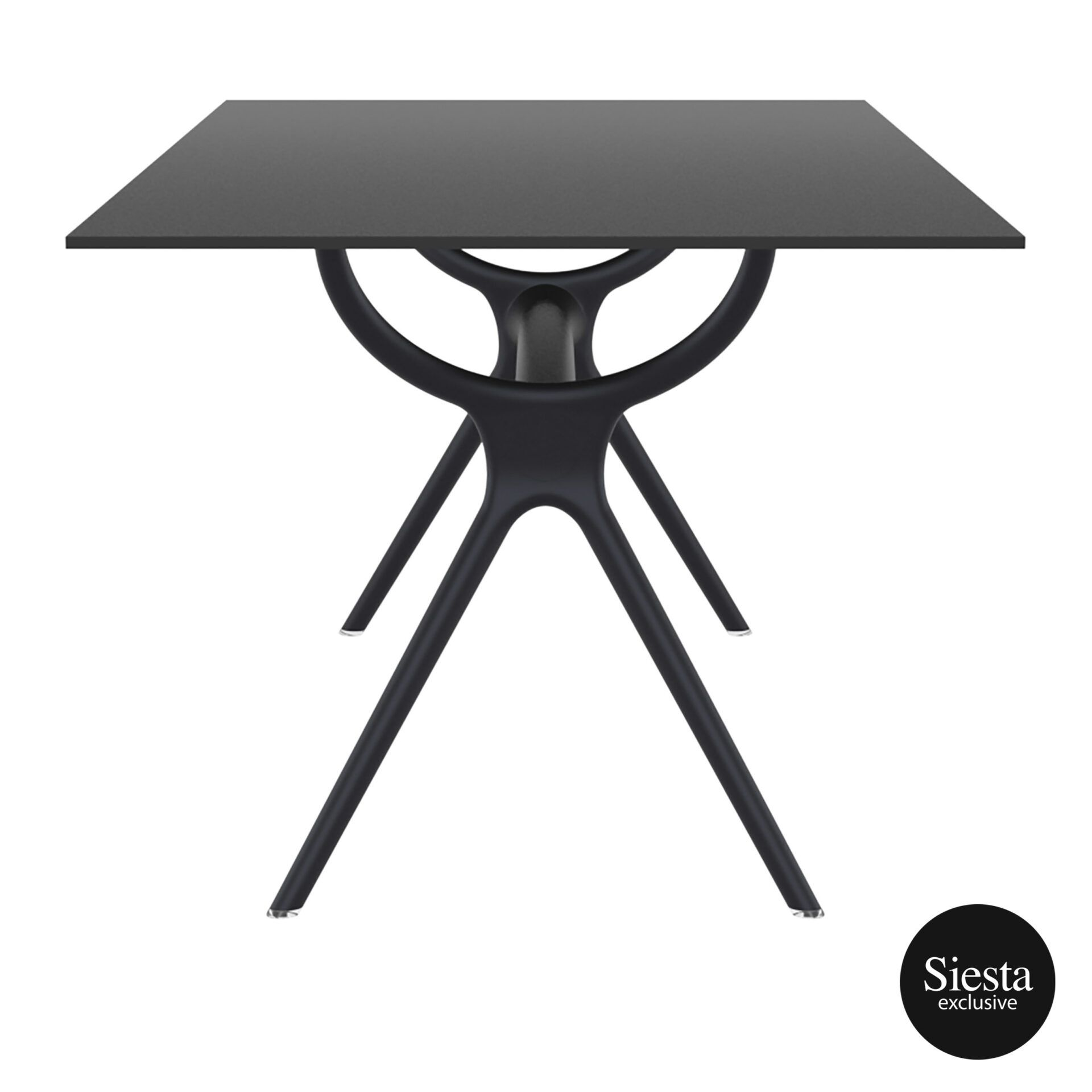 polypropylene dining air table 180 black short edge 1