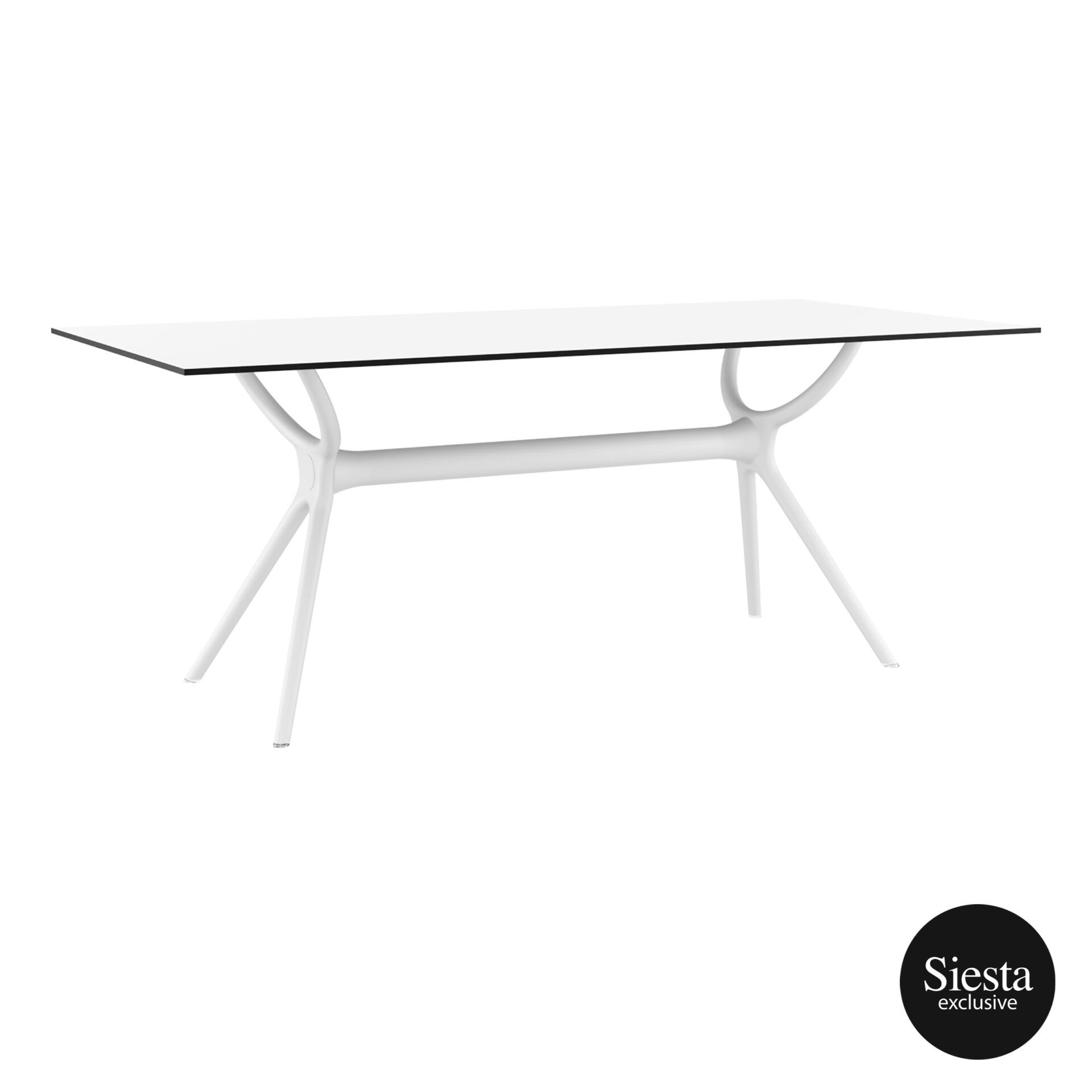 polypropylene dining air table 180 white front side 1