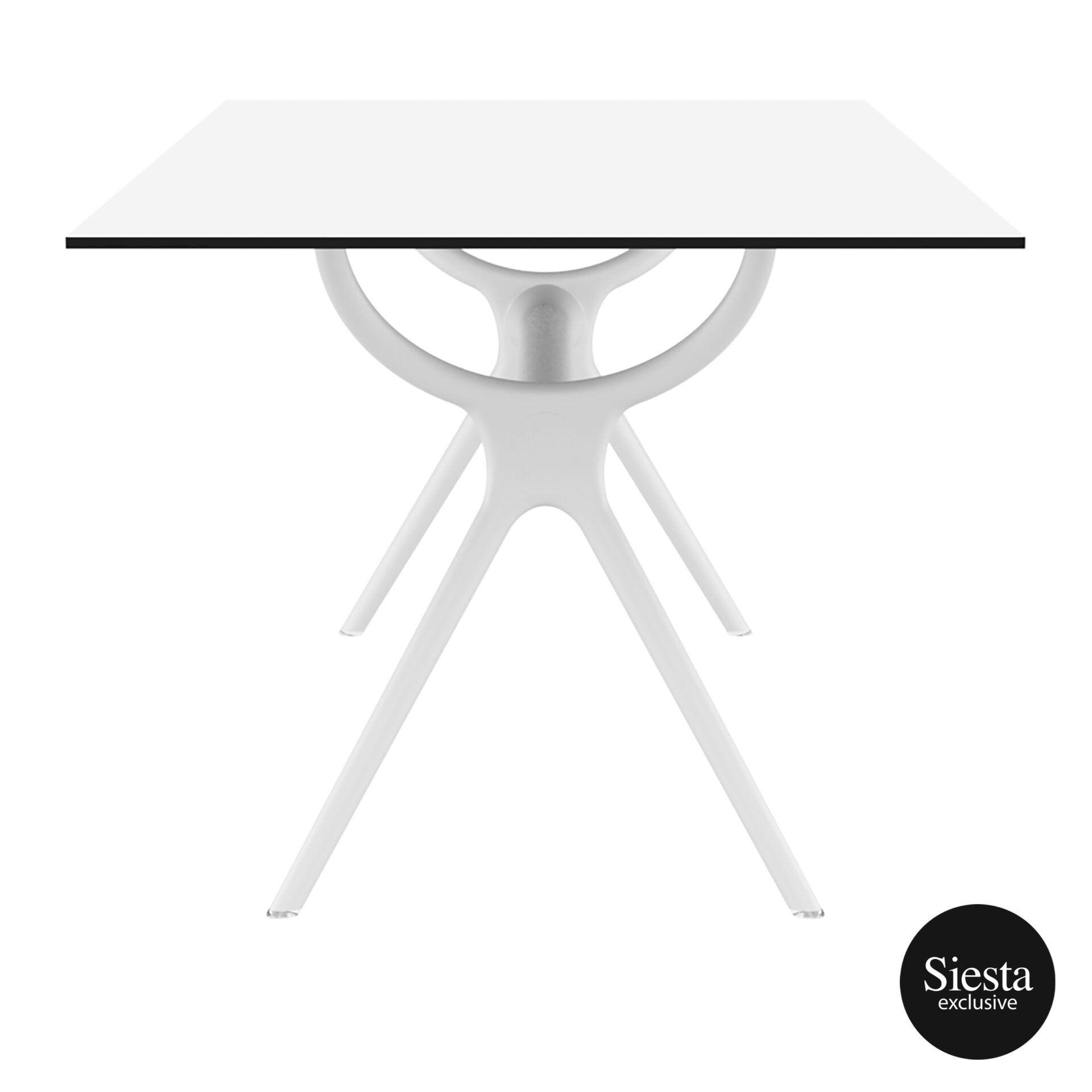 polypropylene dining air table 180 white short edge 1