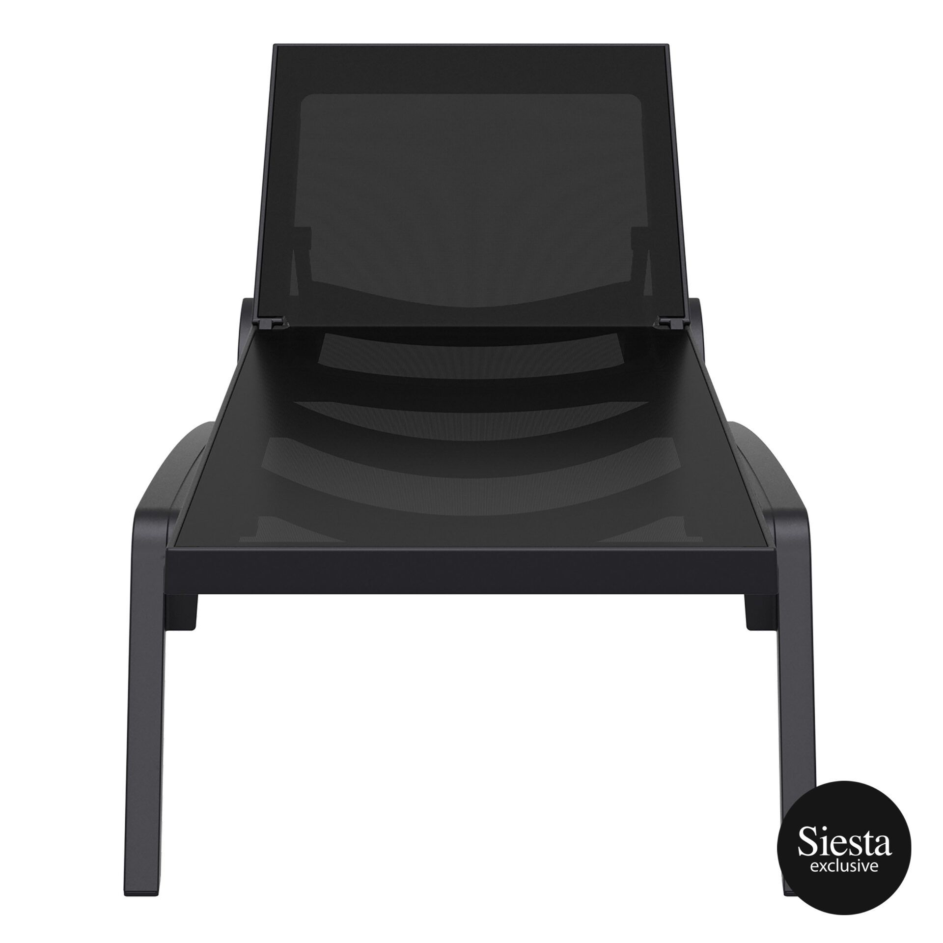 pool deck commercial pacific sunlounger black black front 2