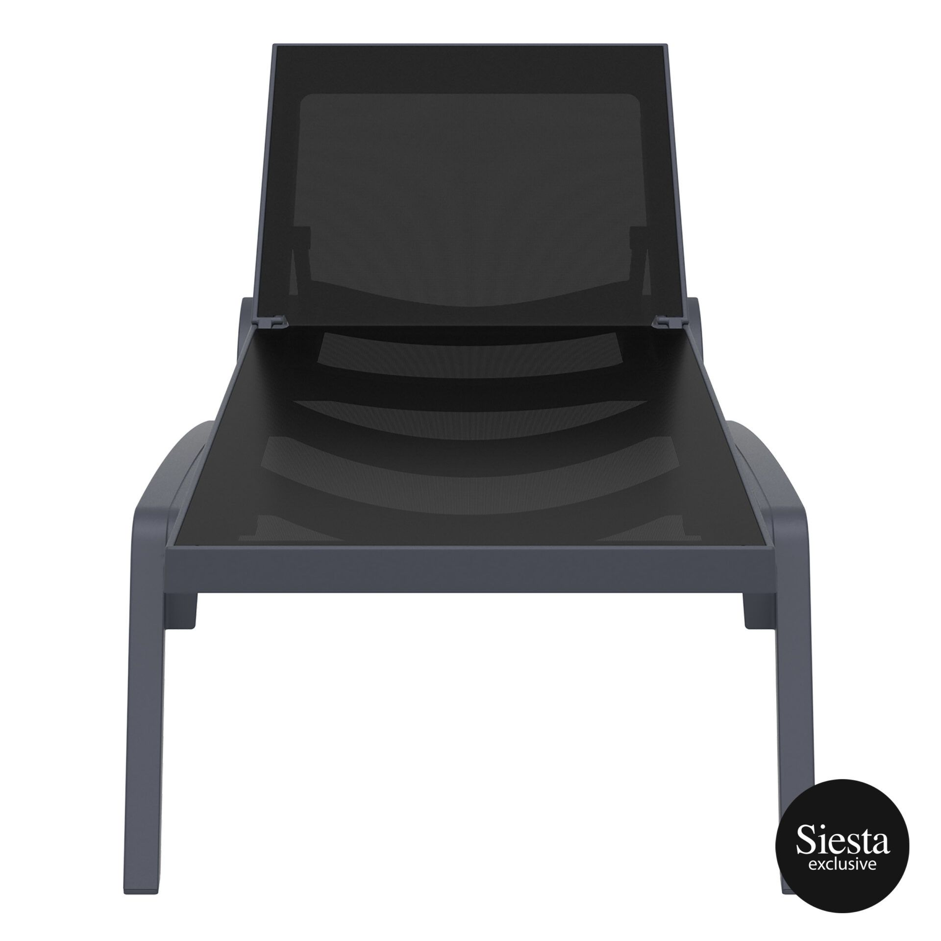 pool deck commercial pacific sunlounger darkgrey black front 1