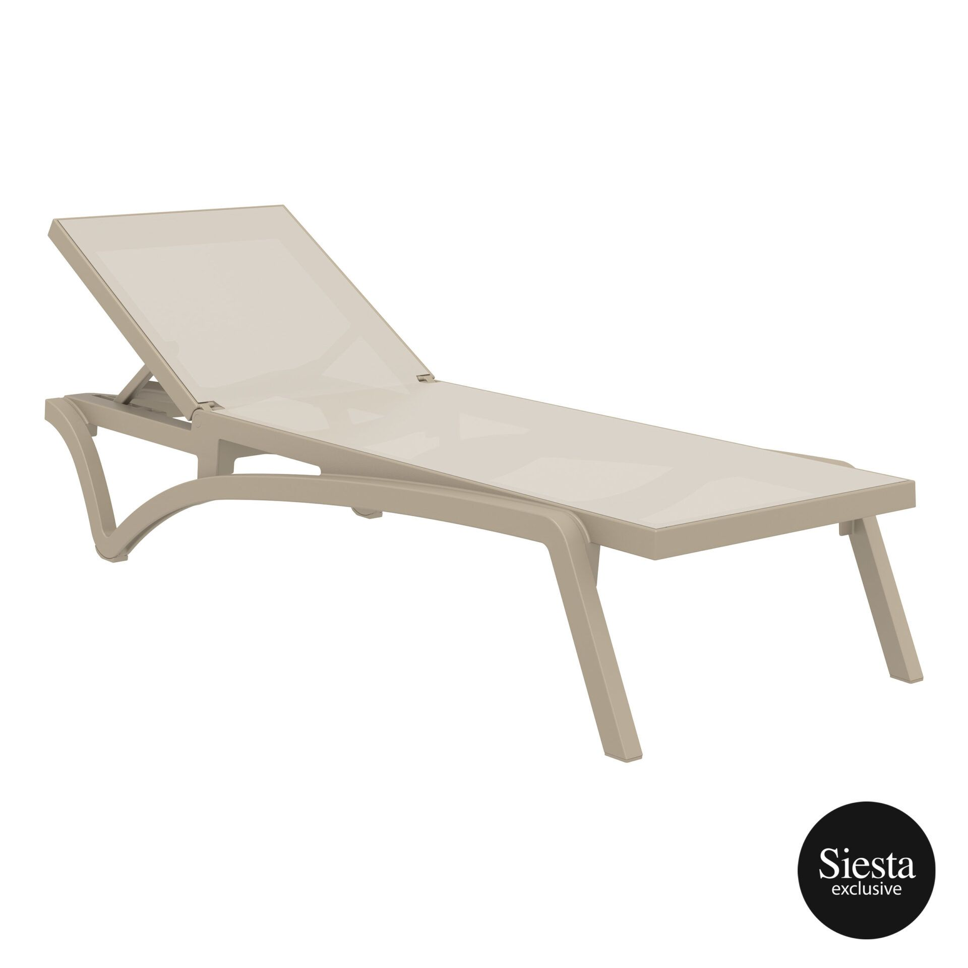 pool deck commercial pacific sunlounger taupe taupe front side 1