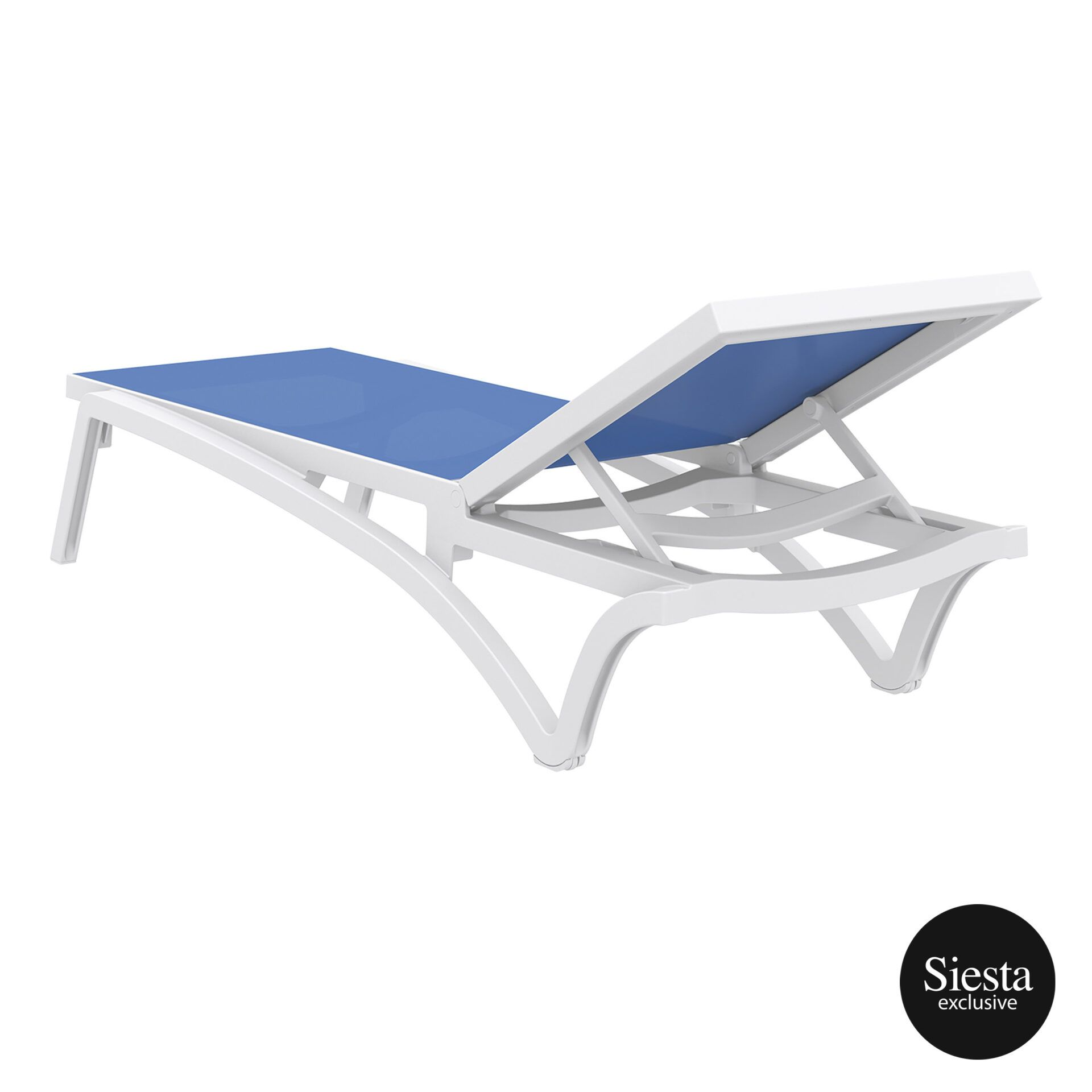 pool deck commercial pacific sunlounger white blue back side 1