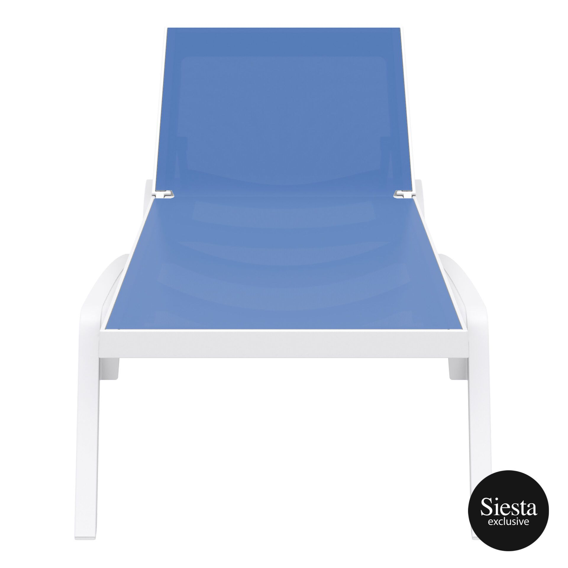 pool deck commercial pacific sunlounger white blue front