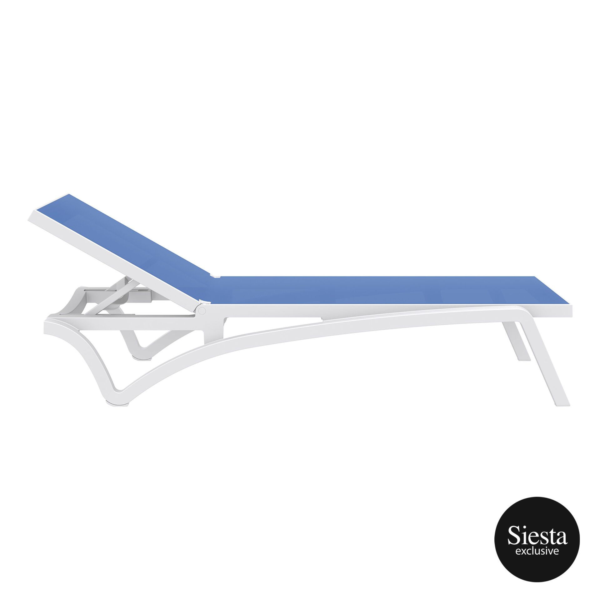 pool deck commercial pacific sunlounger white blue side