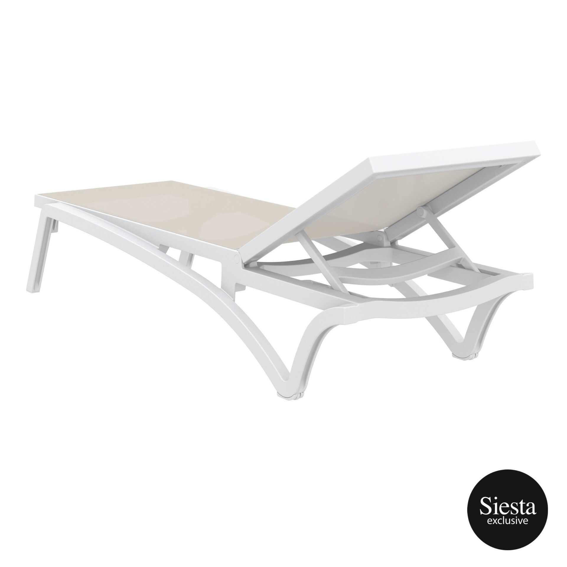 pool deck commercial pacific sunlounger white dovegrey back side