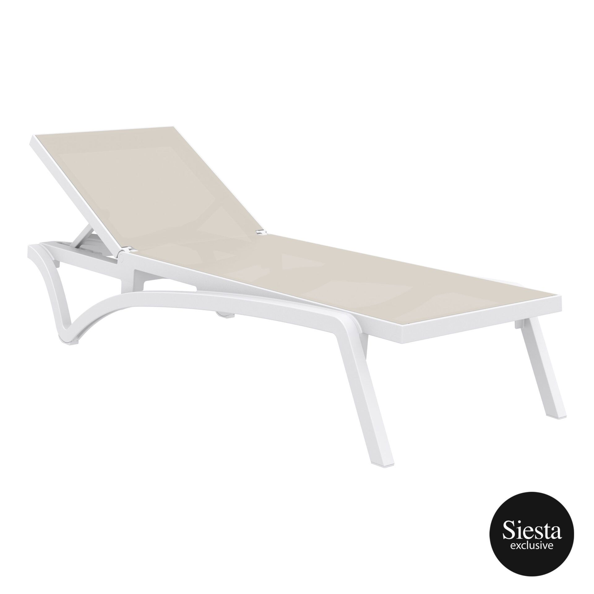 pool deck commercial pacific sunlounger white dovegrey front side