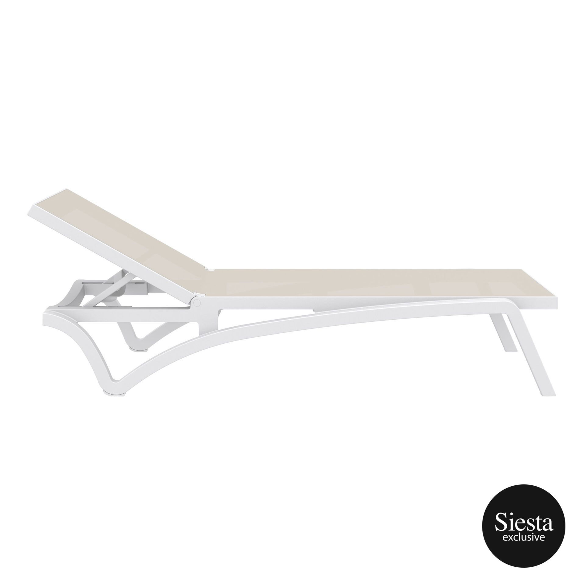 pool deck commercial pacific sunlounger white dovegrey side