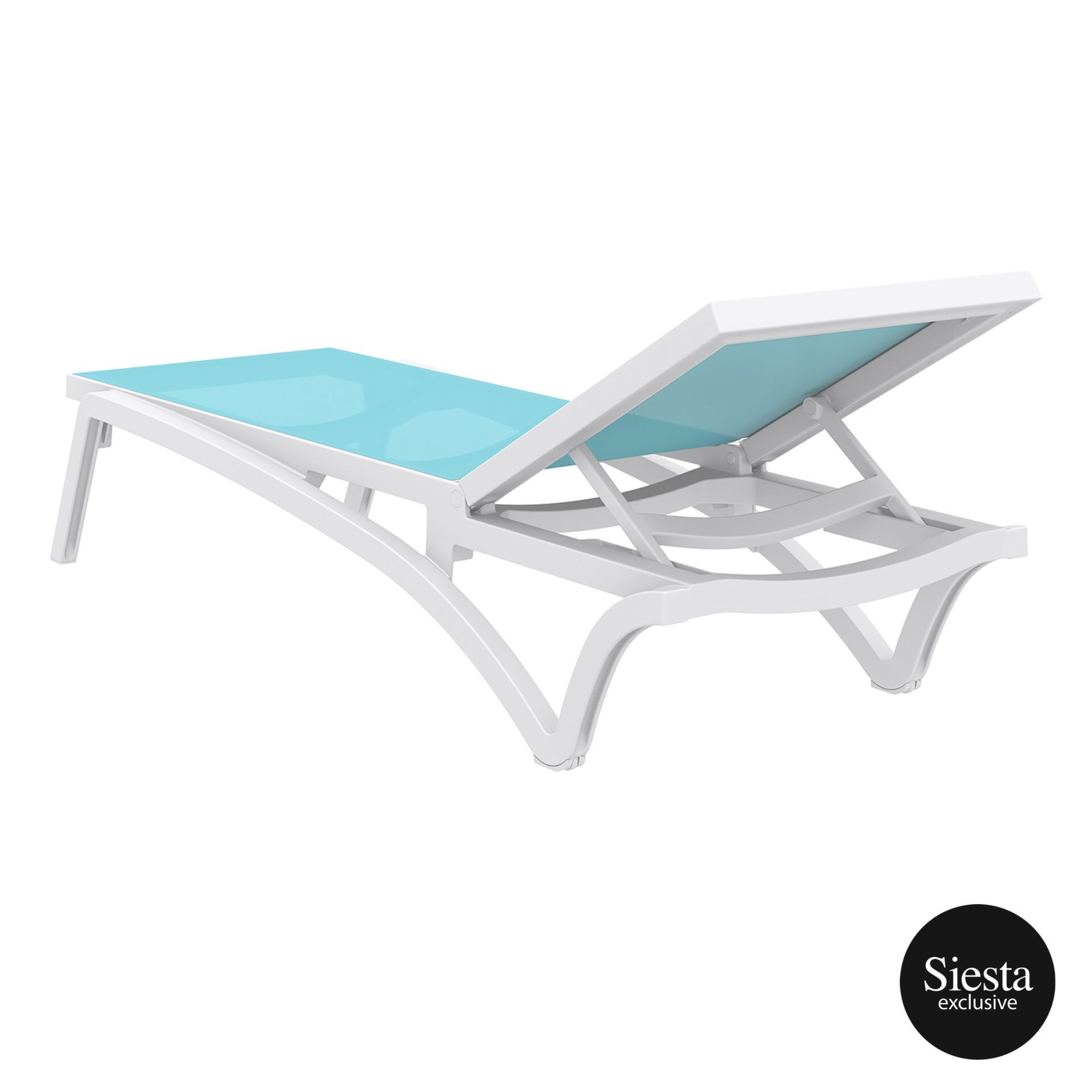 pool deck commercial pacific sunlounger white turquoise back side