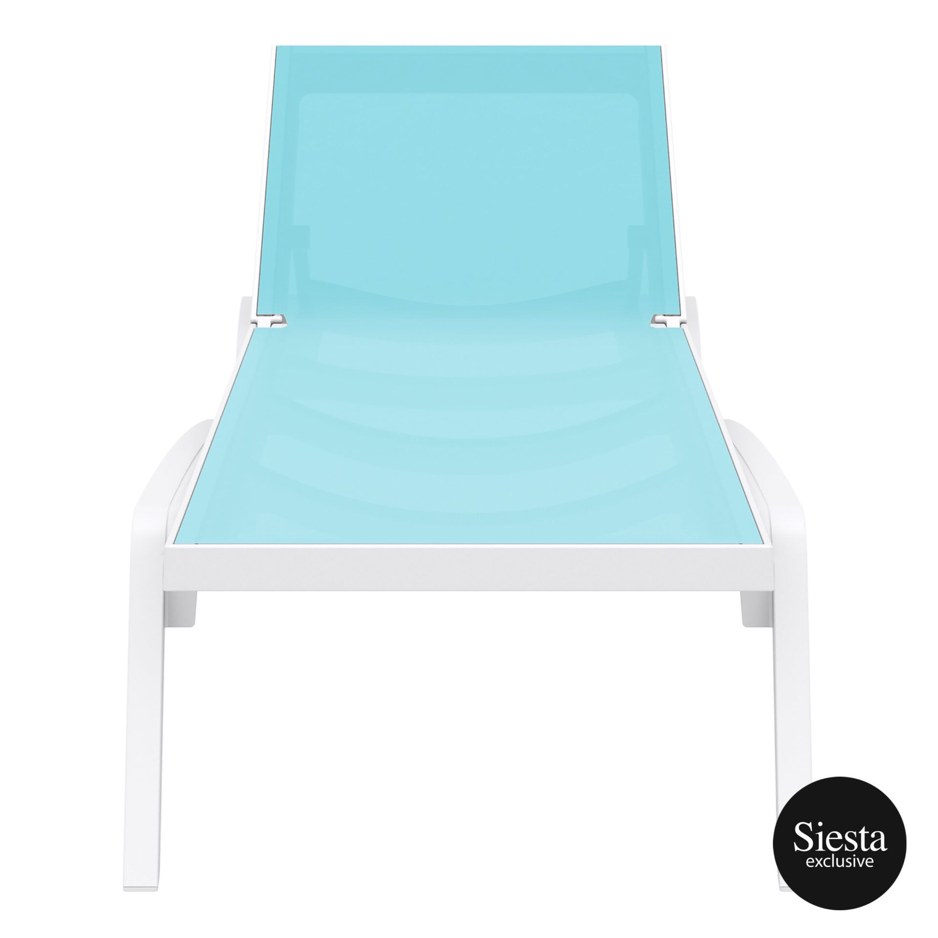 pool deck commercial pacific sunlounger white turquoise front