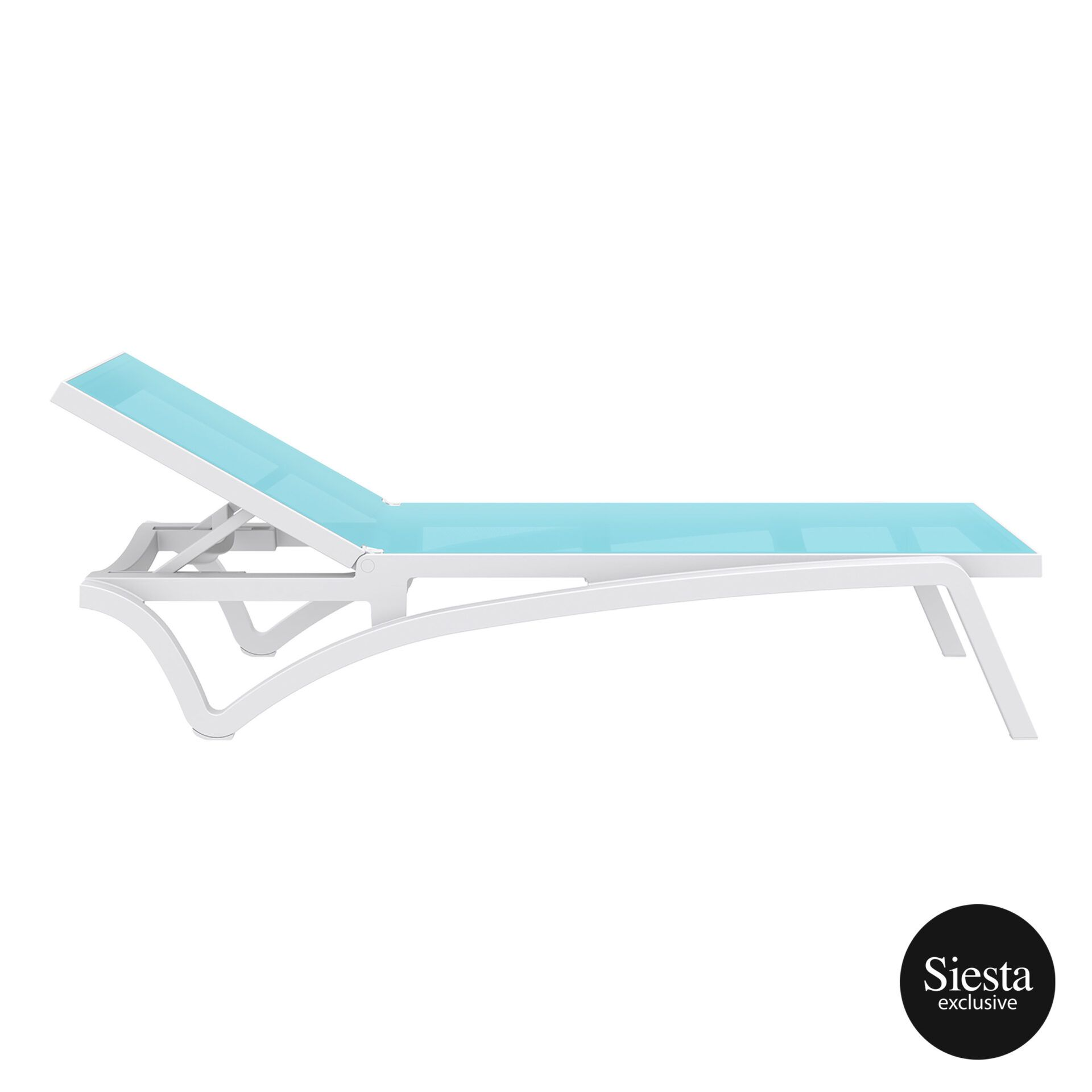 pool deck commercial pacific sunlounger white turquoise side