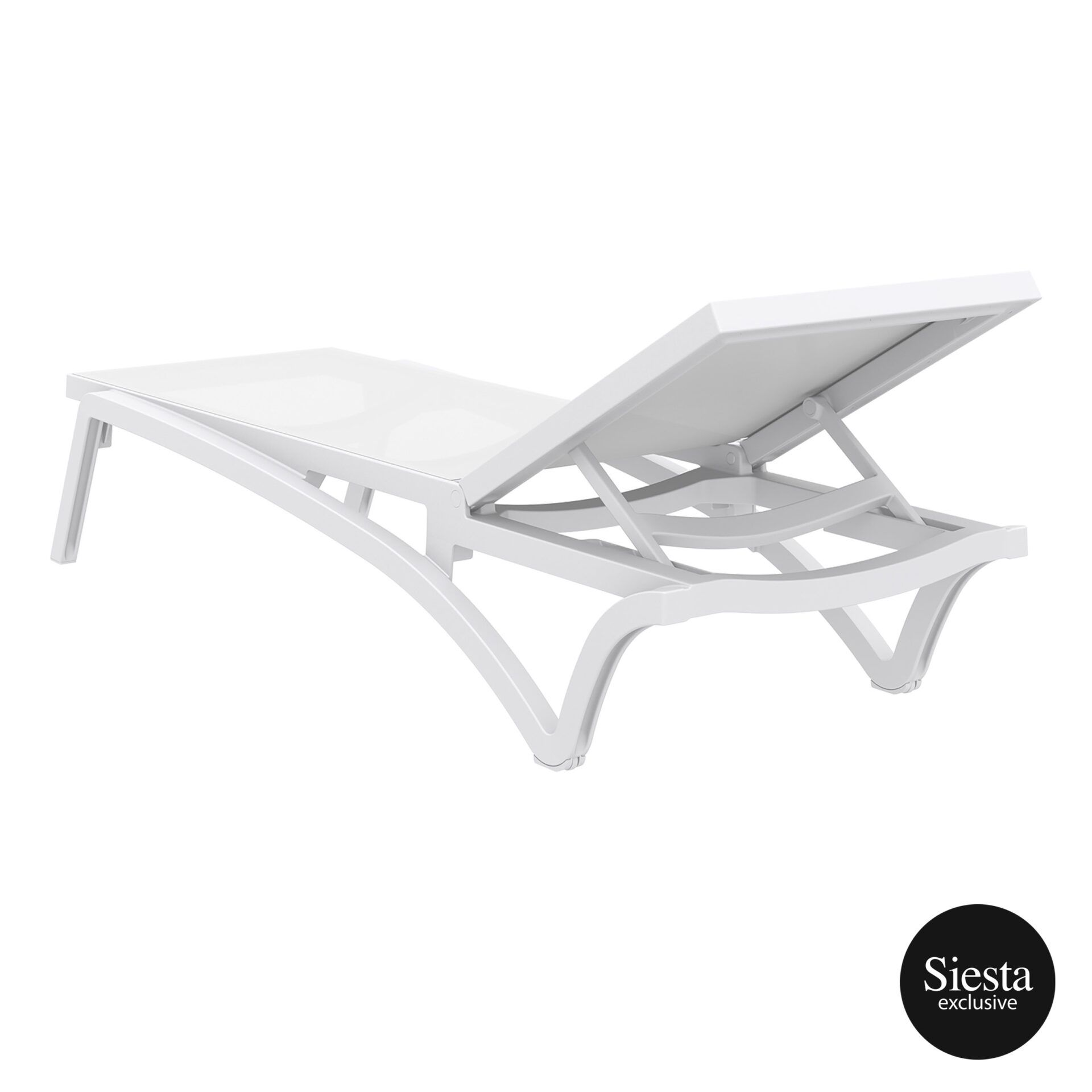 pool deck commercial pacific sunlounger white white back side