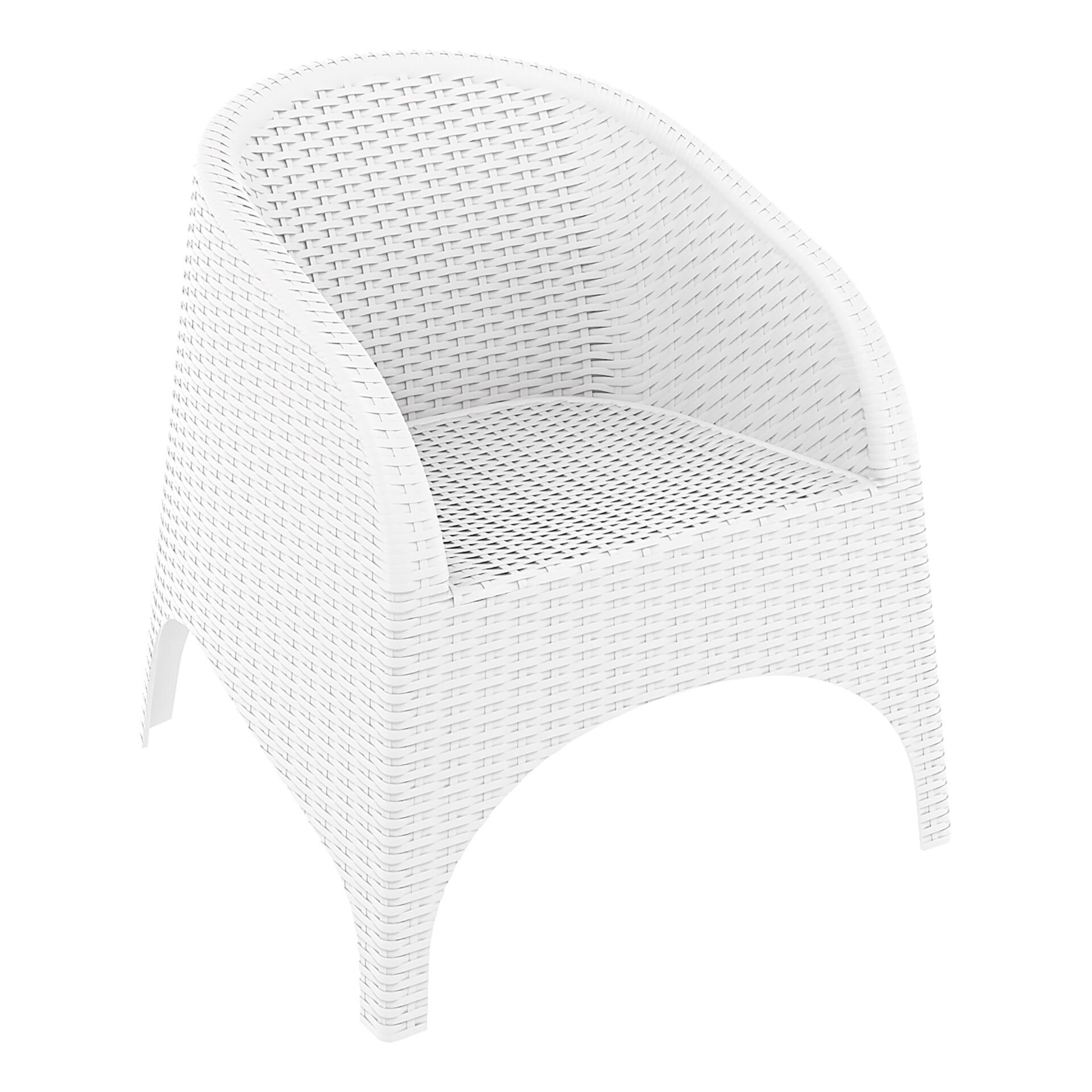 resin outdoor aruba armchair white front side