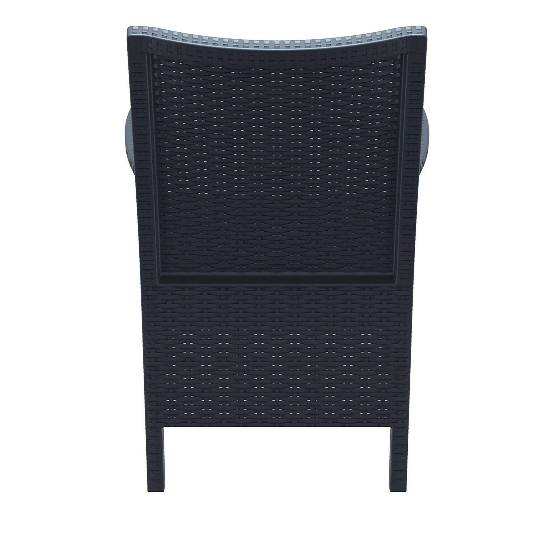 resin rattan california tub chair darkgrey back