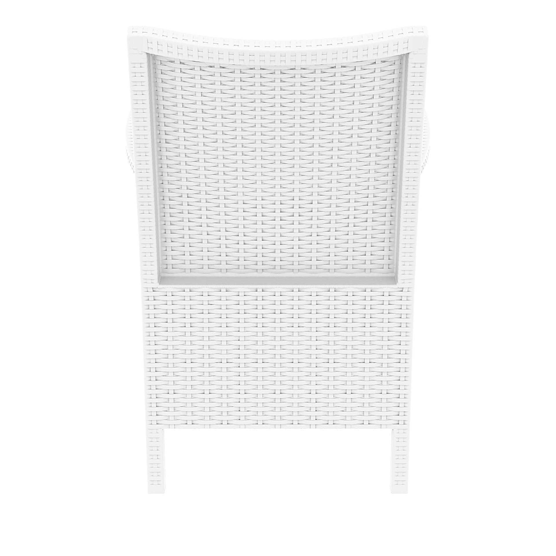 resin rattan california tub chair white back