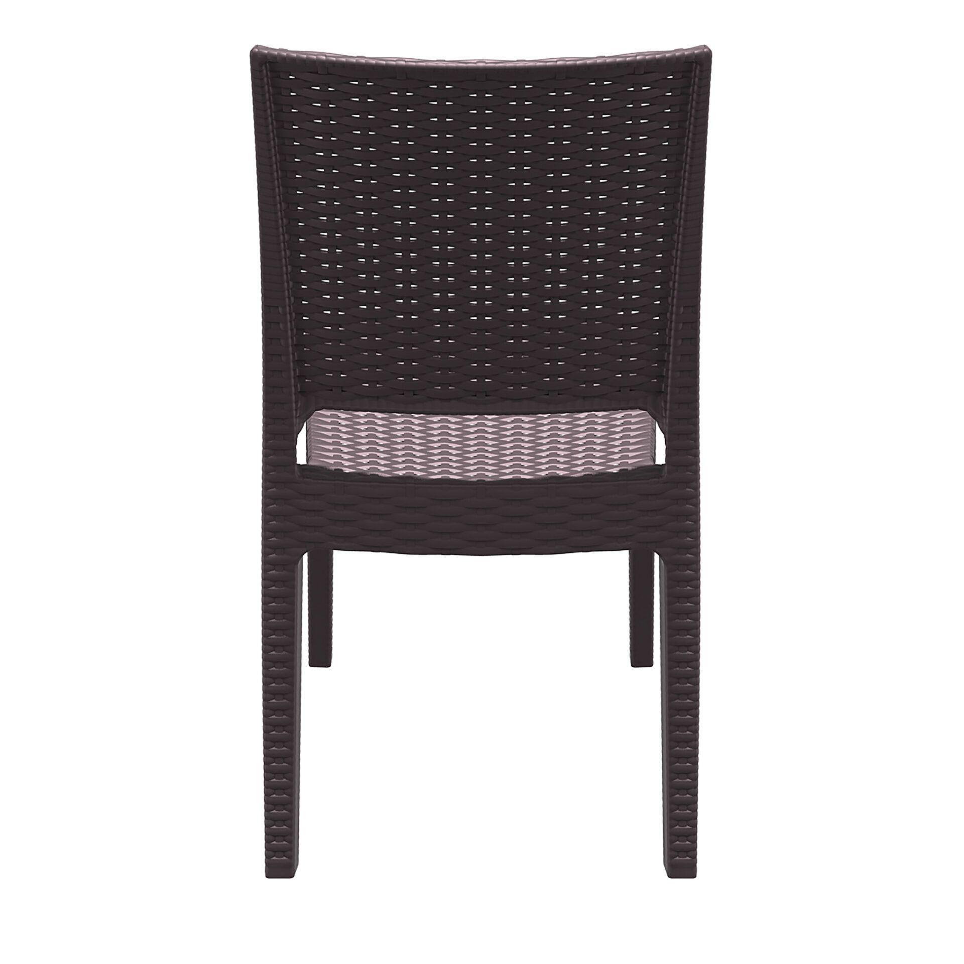 resin rattan dining florida chair brown back