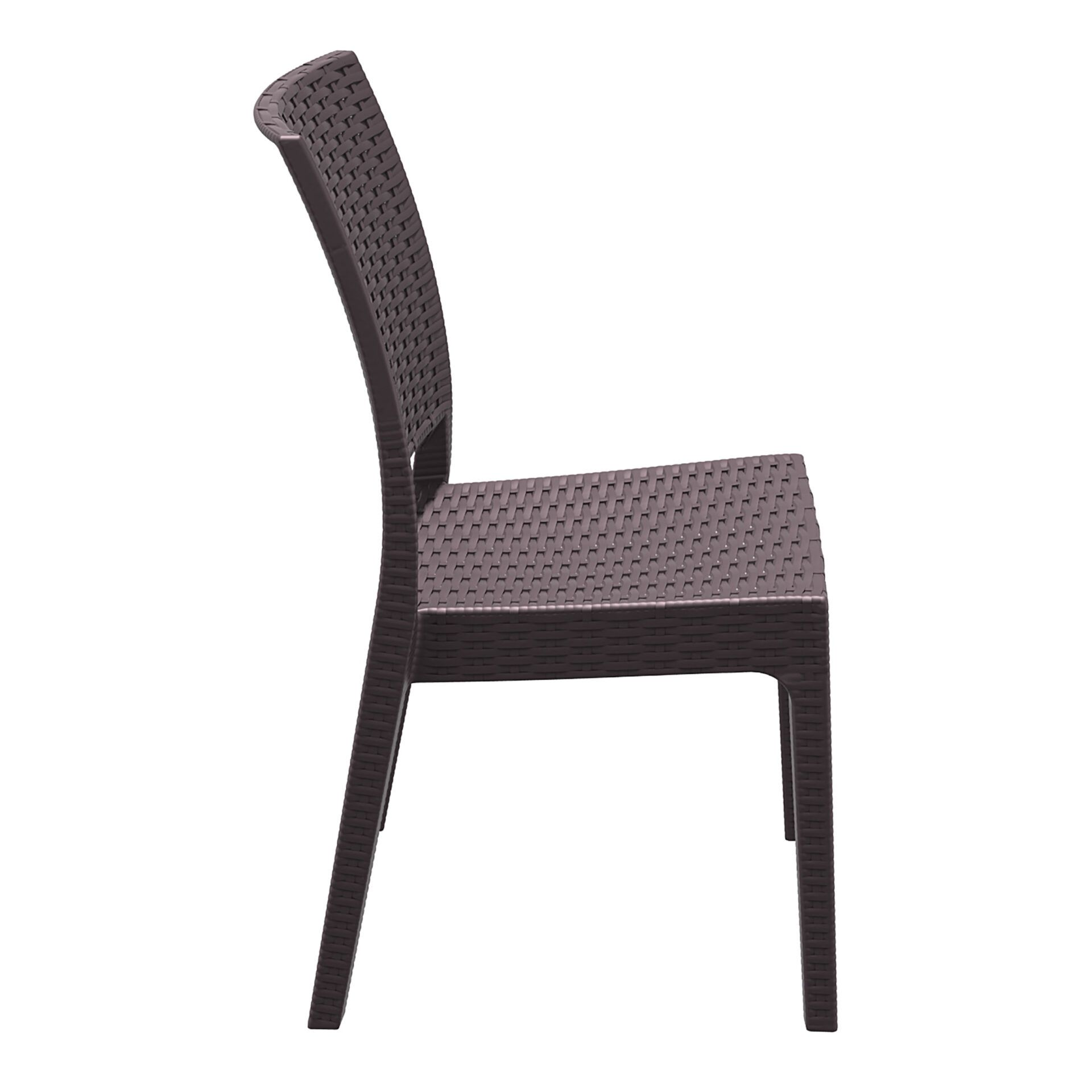 resin rattan dining florida chair brown side